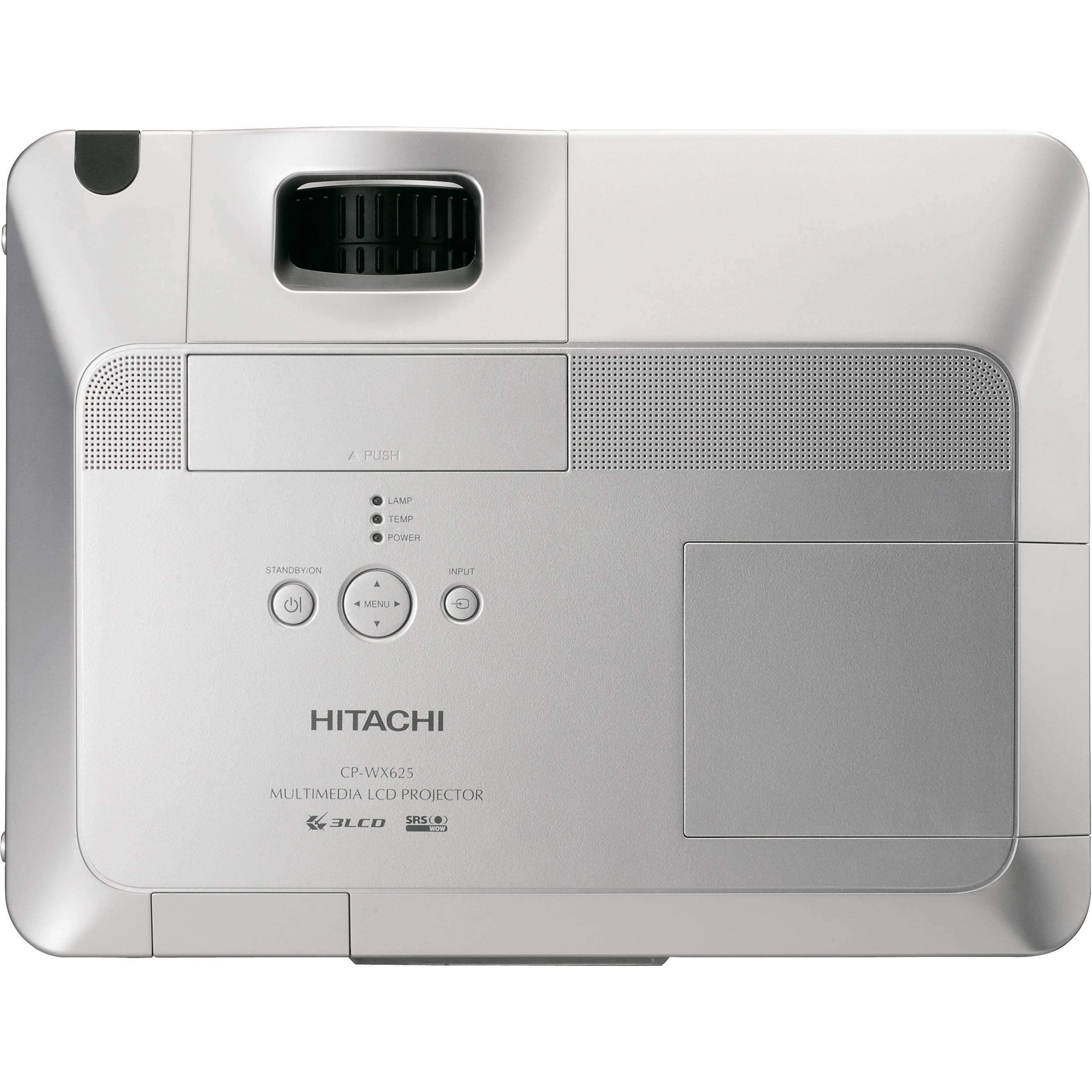 Hitachi CP-WX625 3LCD Projector 4000 Lumens HD 1080i HDMI Port W// Power Cord