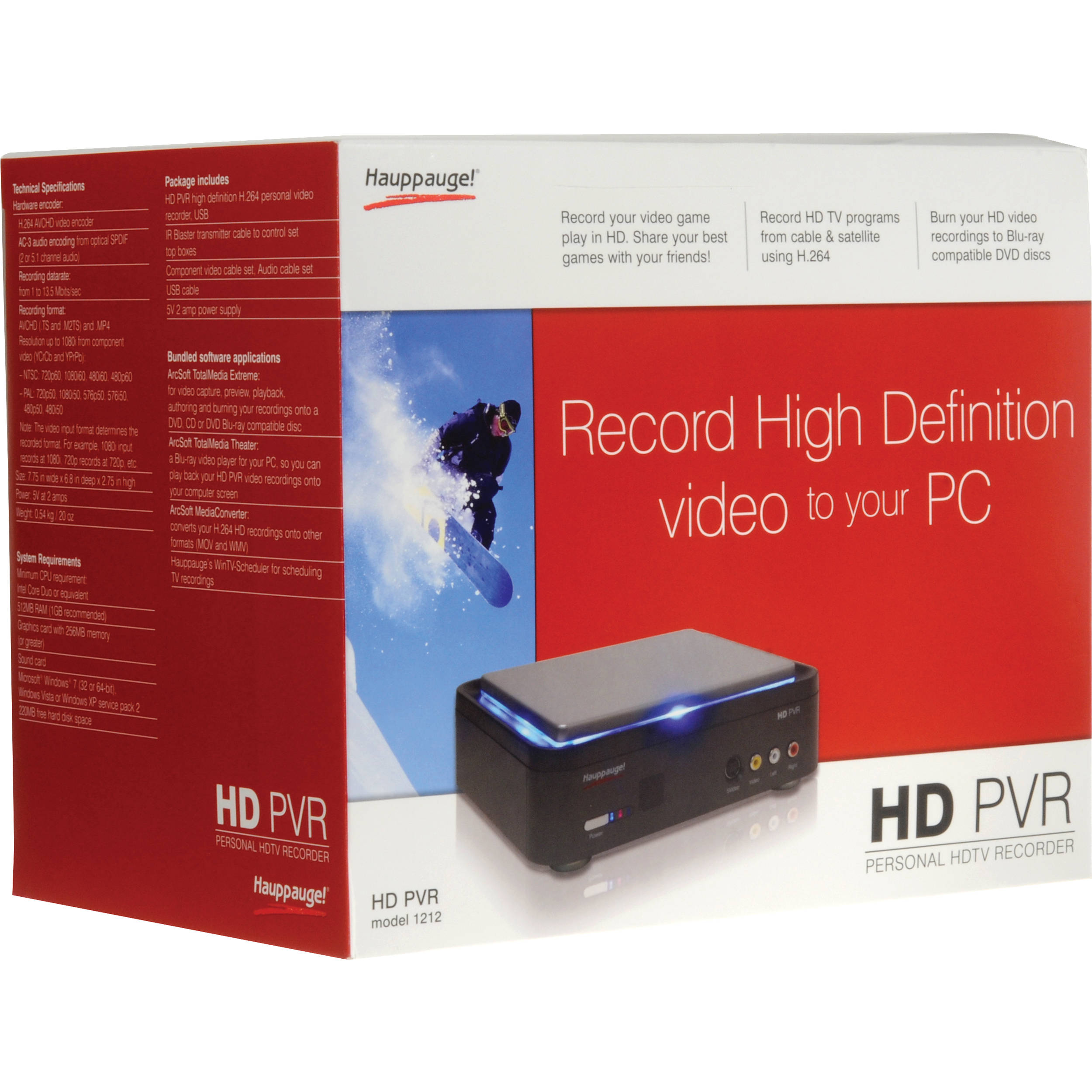 Hauppauge HD PVR High Definition Video Recorder