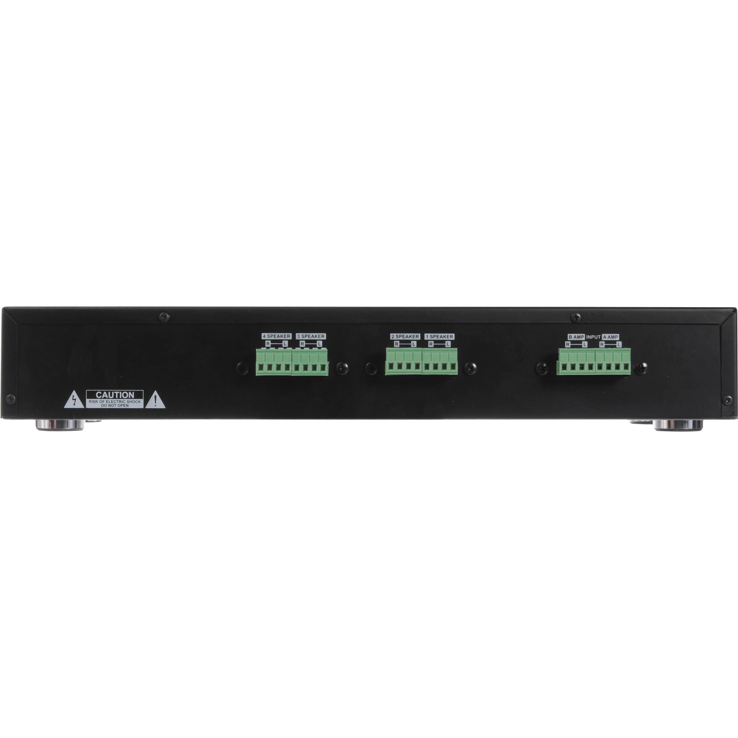 Pyle PSPVC4 4-Ch Stereo Speaker Selector w//Volume Control