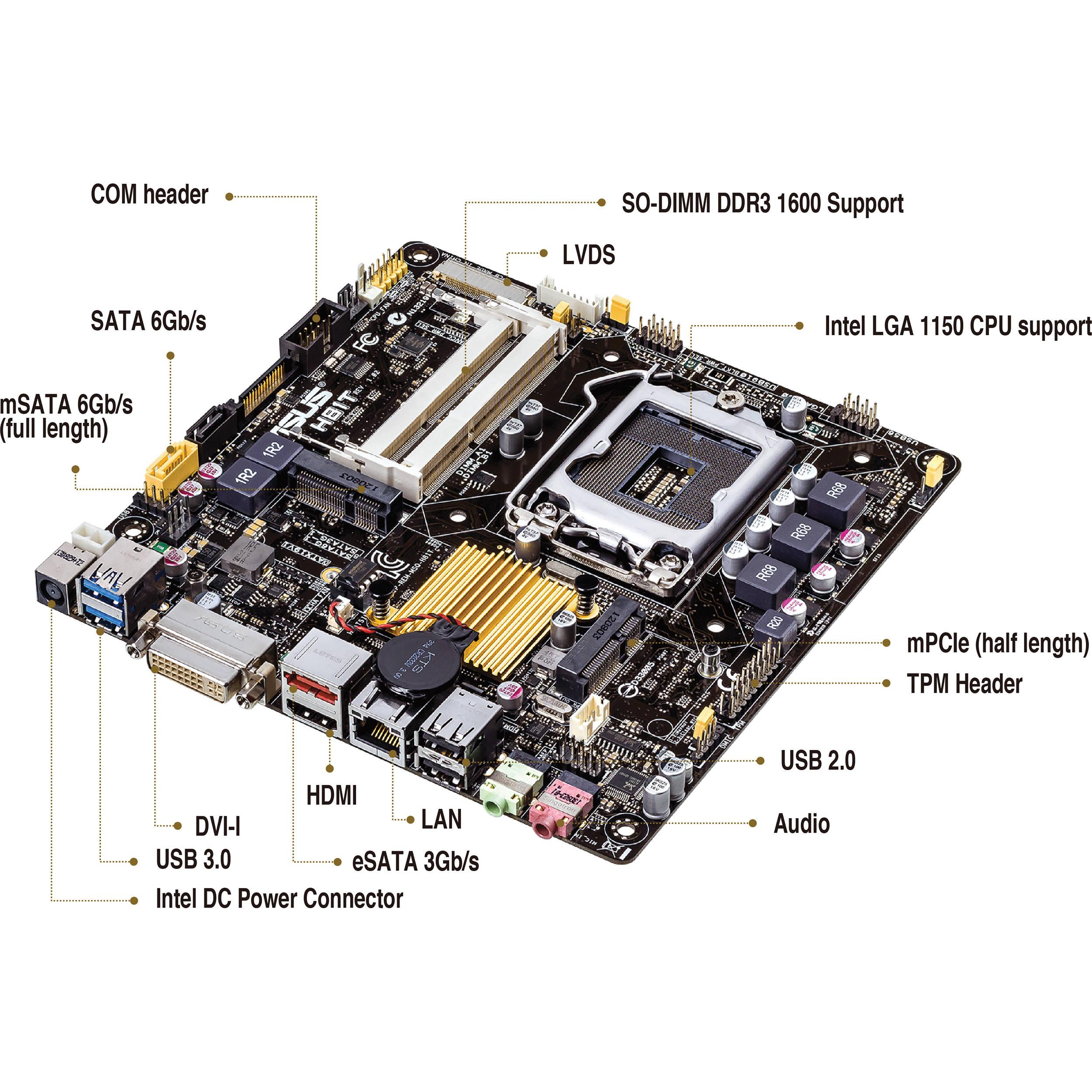 ASUS H81T/CSM Thin Mini-ITX Motherboard