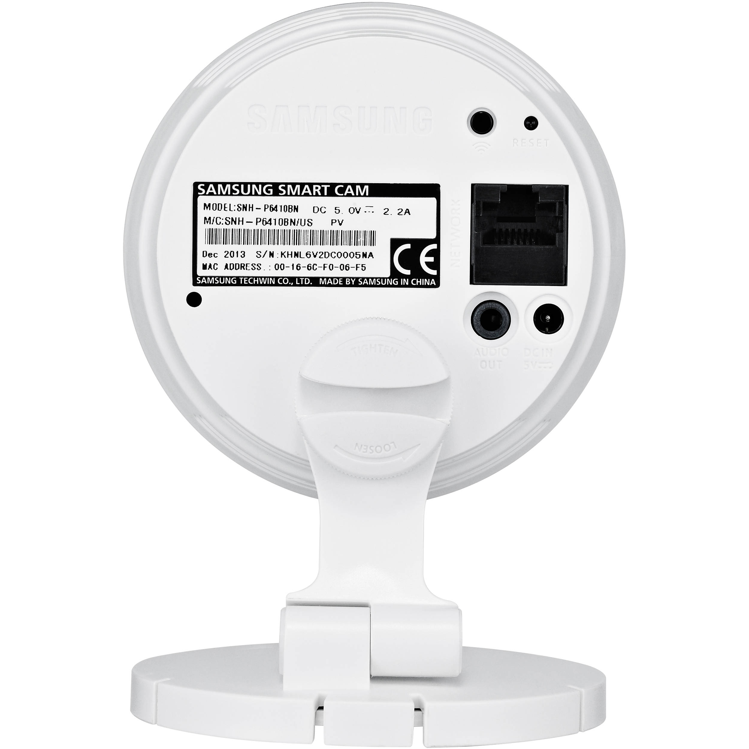 Samsung SNH-P6410BN SmartCam Pro Indoor Wired/WiFi IP Camera