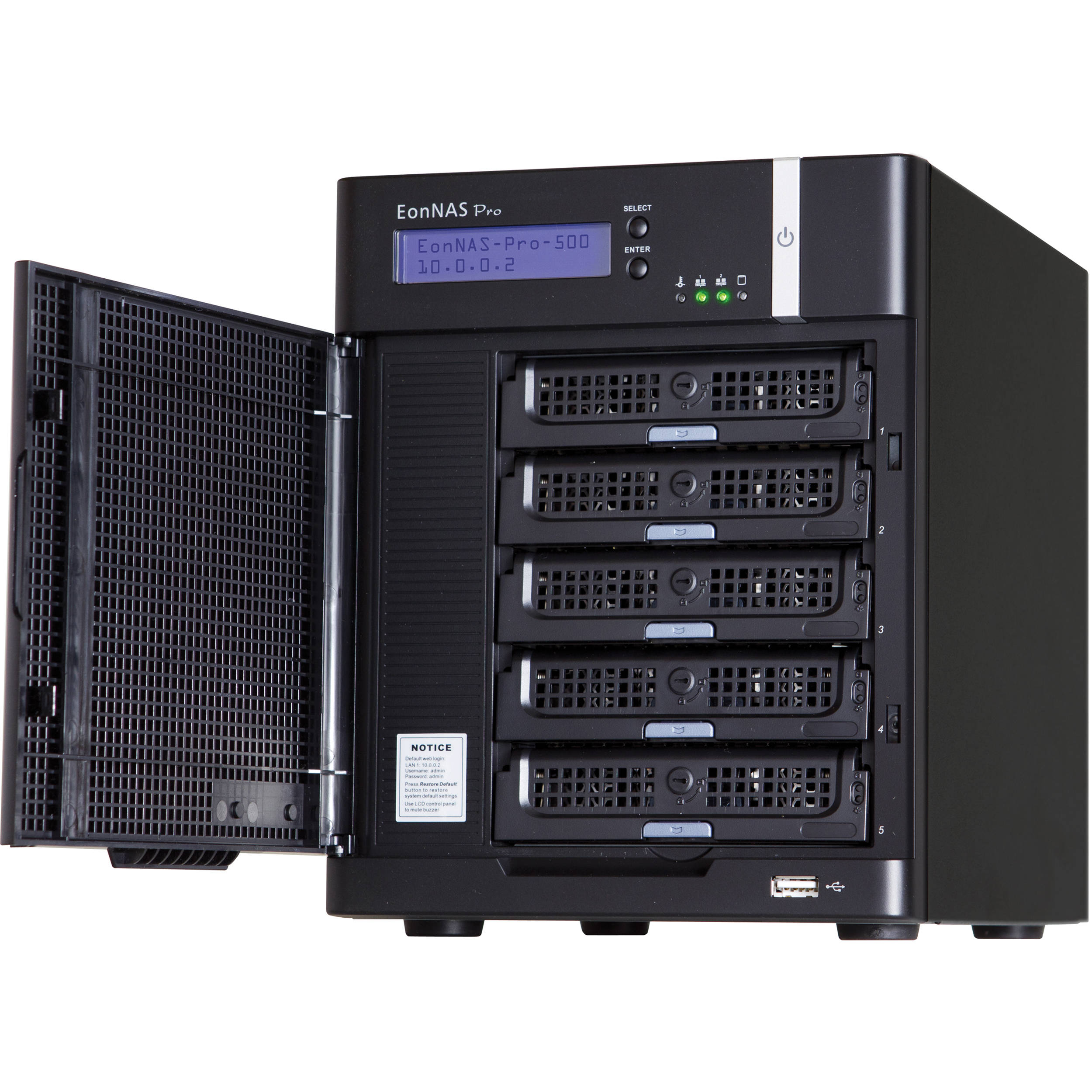 Infortrend EonNAS Pro 510 5-Bay NAS Tower for the Start of Centralized  Management