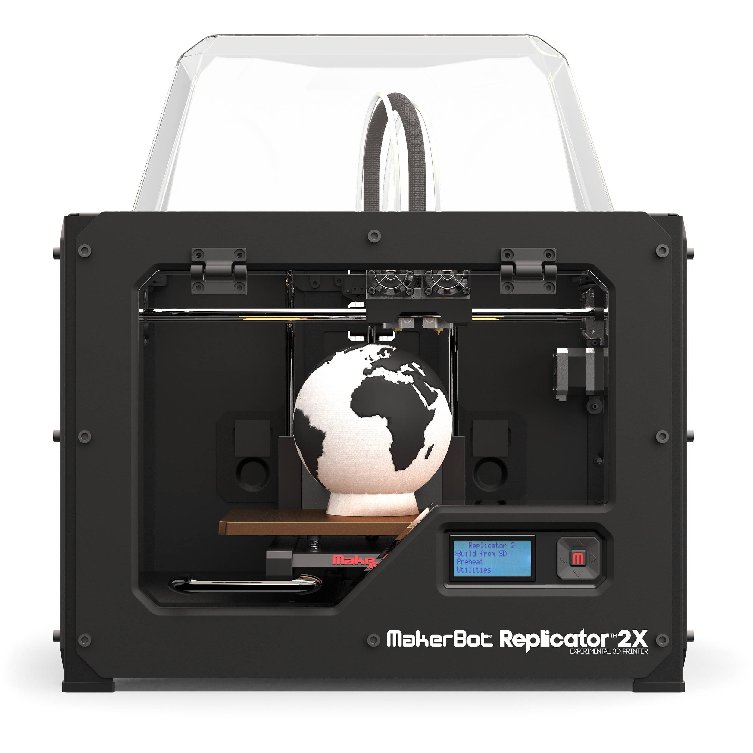 MakerBot Replicator 2X Experimental 3D Printer on