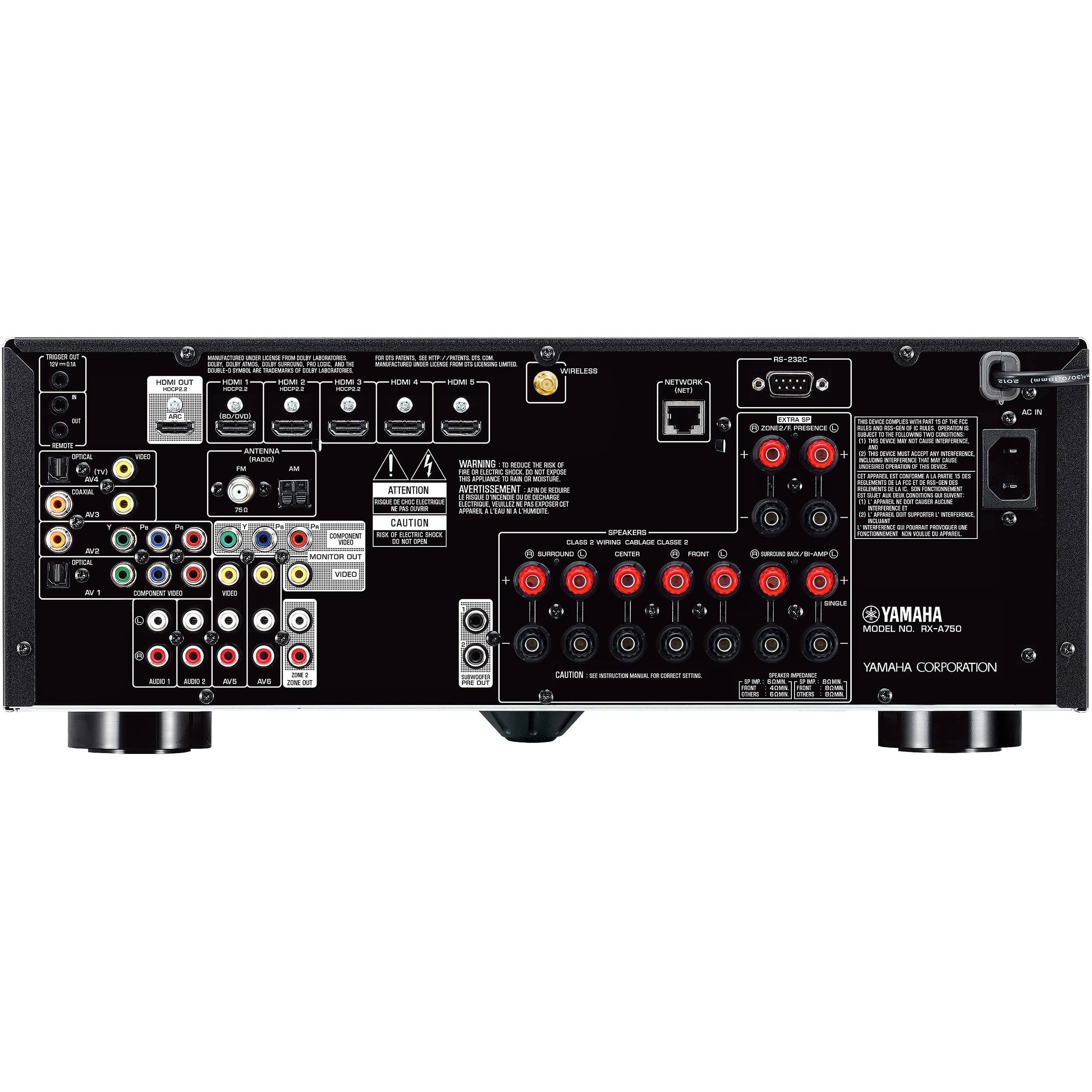 Yamaha AVENTAGE RX-A750BL 7 2-Channel Network AV Receiver (Black)