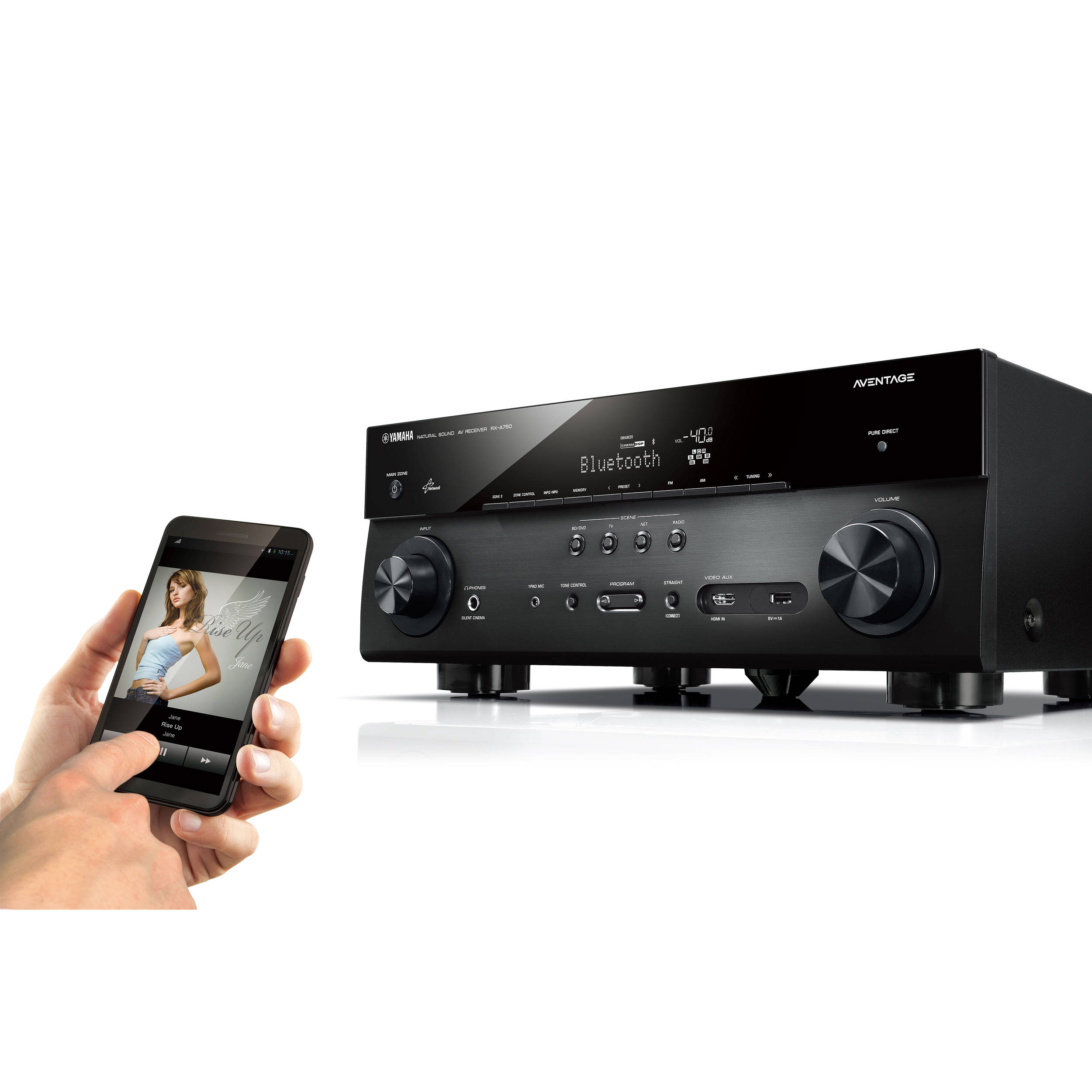 Yamaha AVENTAGE RX-A750BL 7 2-Channel Network AV Receiver (Black)