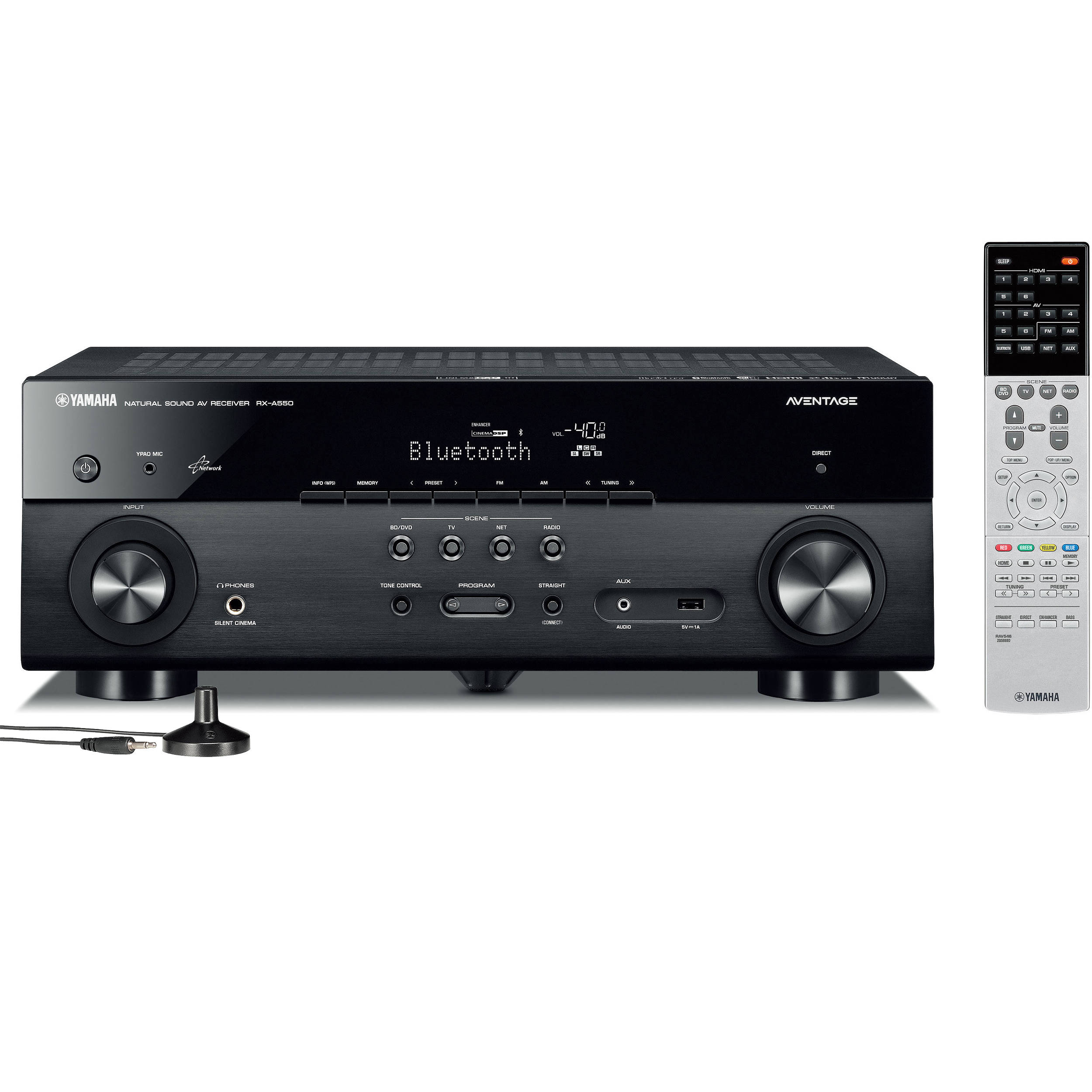 Yamaha AVENTAGE RX-A550BL 5 1-Channel Network AV Receiver (Black)