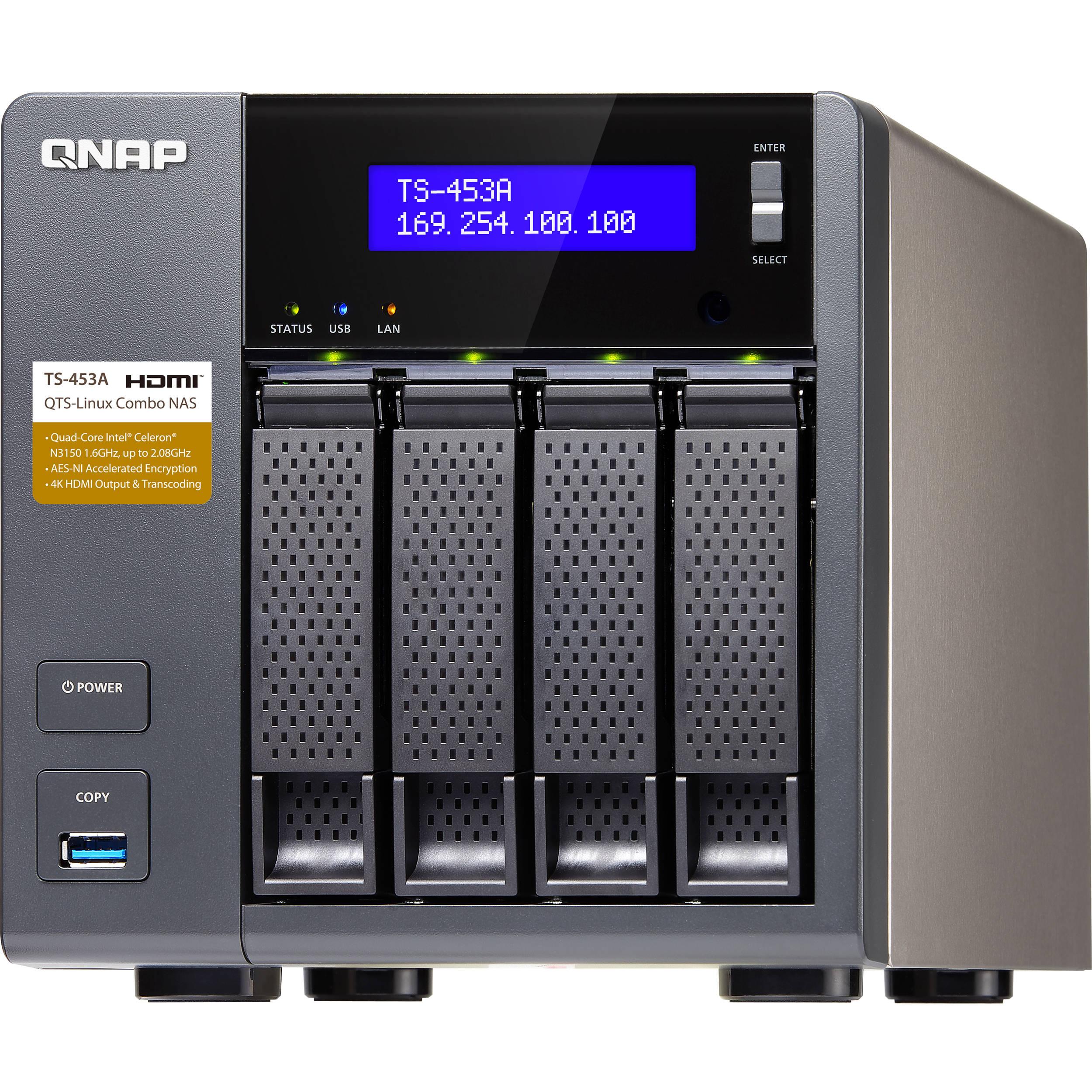 QNAP TS-453A Four-Bay NAS Enclosure