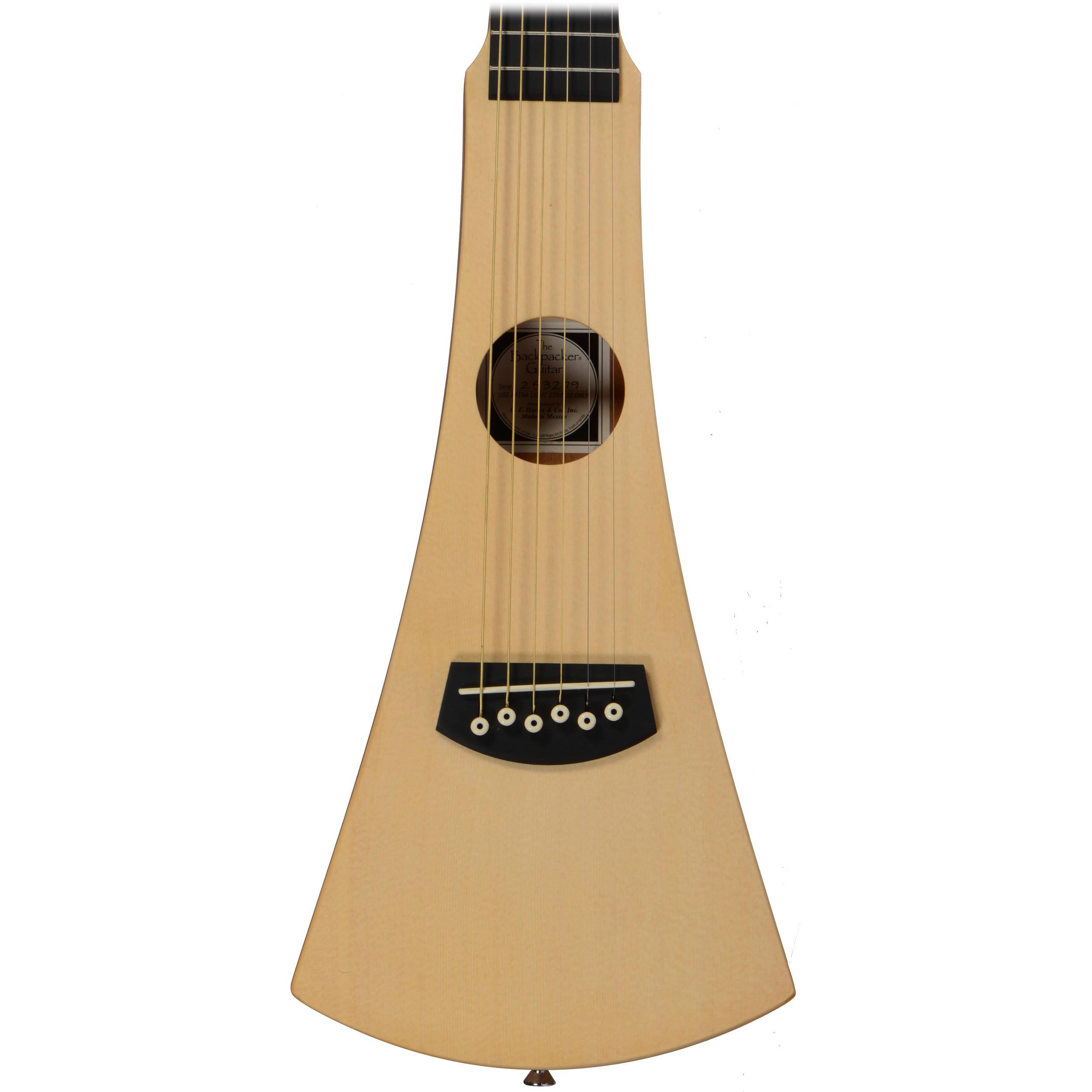 Purple Shop4Omni Steel String Backpacker Travel Guitar with Bag