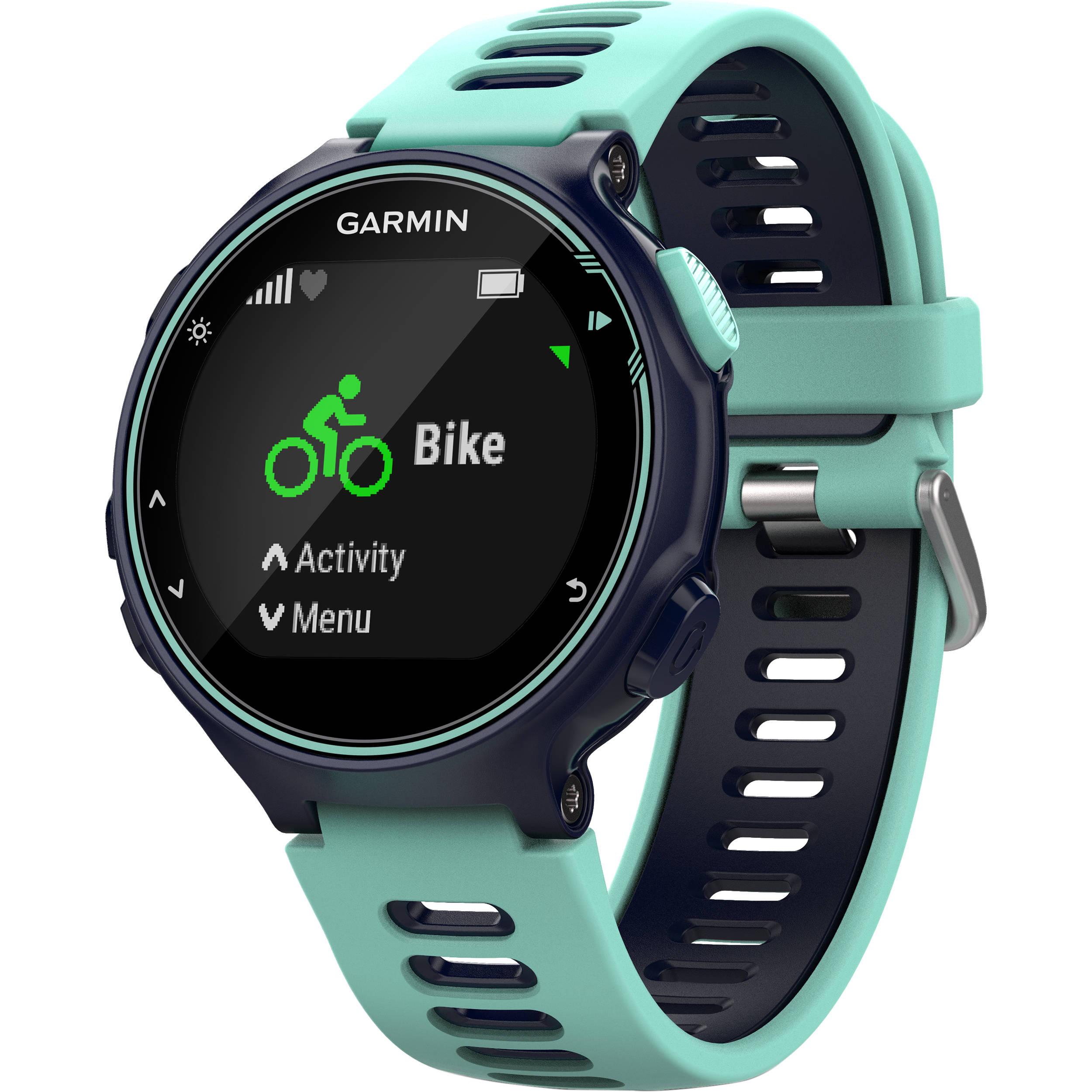 Garmin Forerunner 735XT Sport Watch (Midnight Blue/Frost Blue)