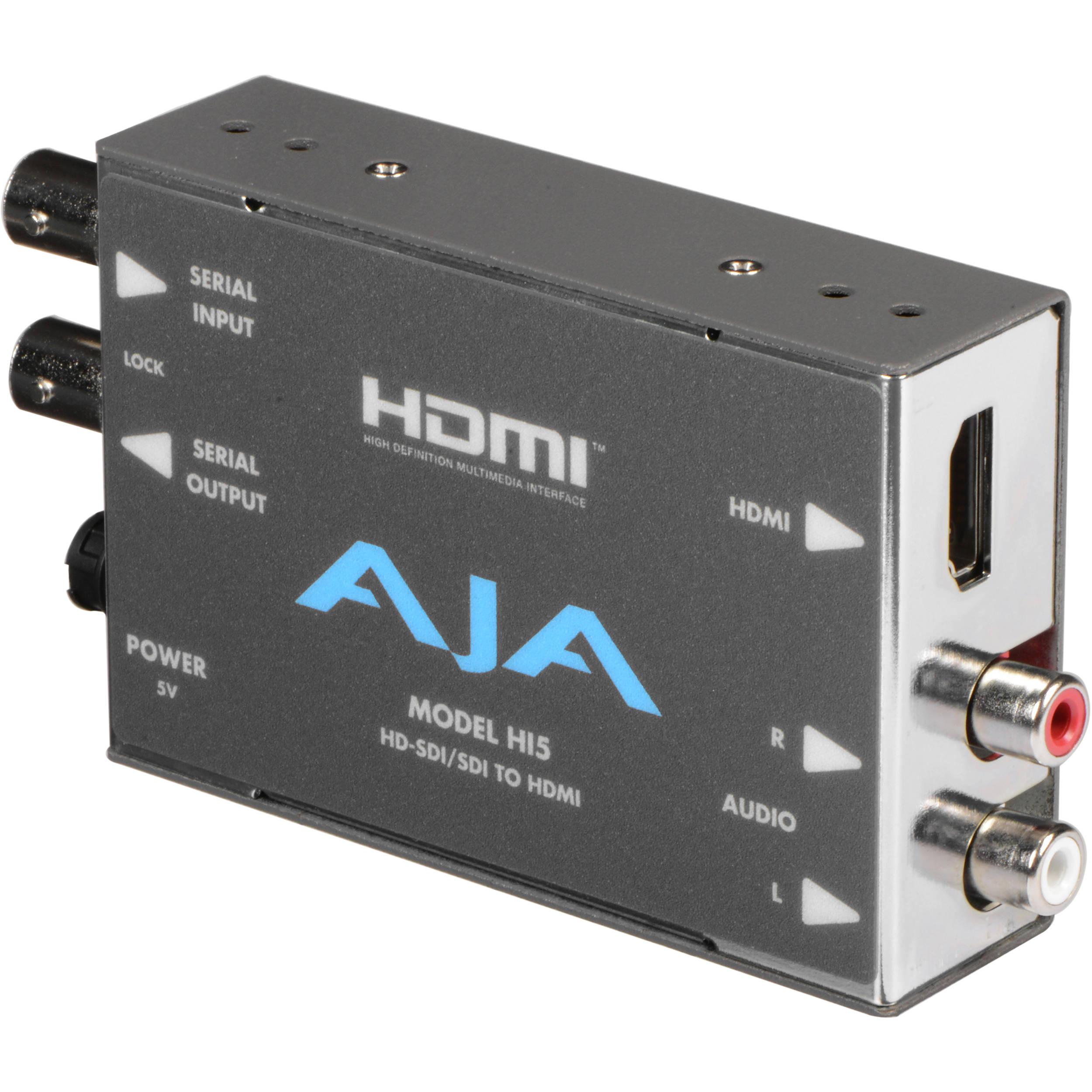 AJA Hi5 HD-SDI//SDI to HDMI Video and Audio Converter