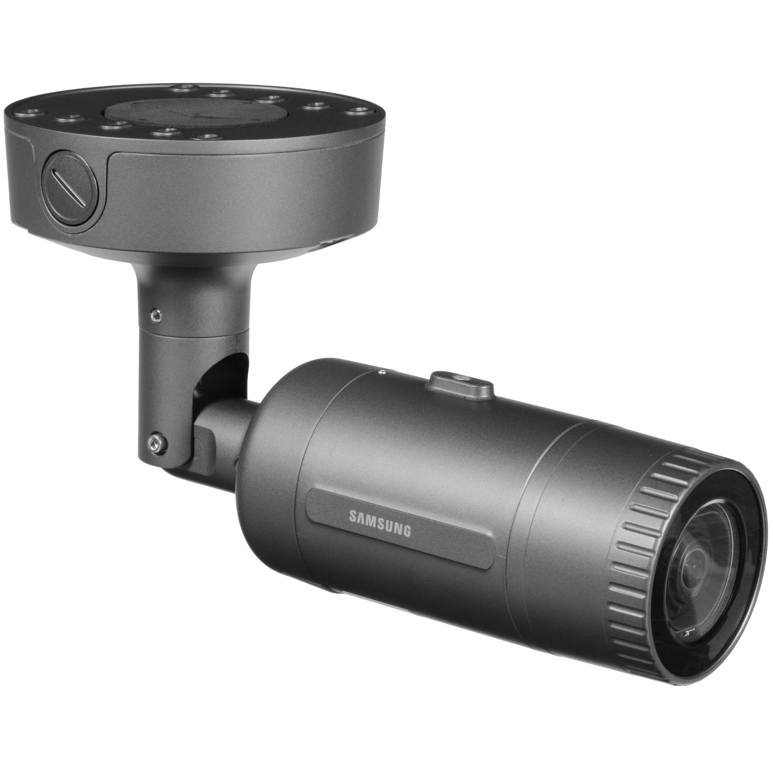 Hanwha Techwin WiseNet 5MP Vandal-Resistant Outdoor Network Bullet Camera  with Night Vision