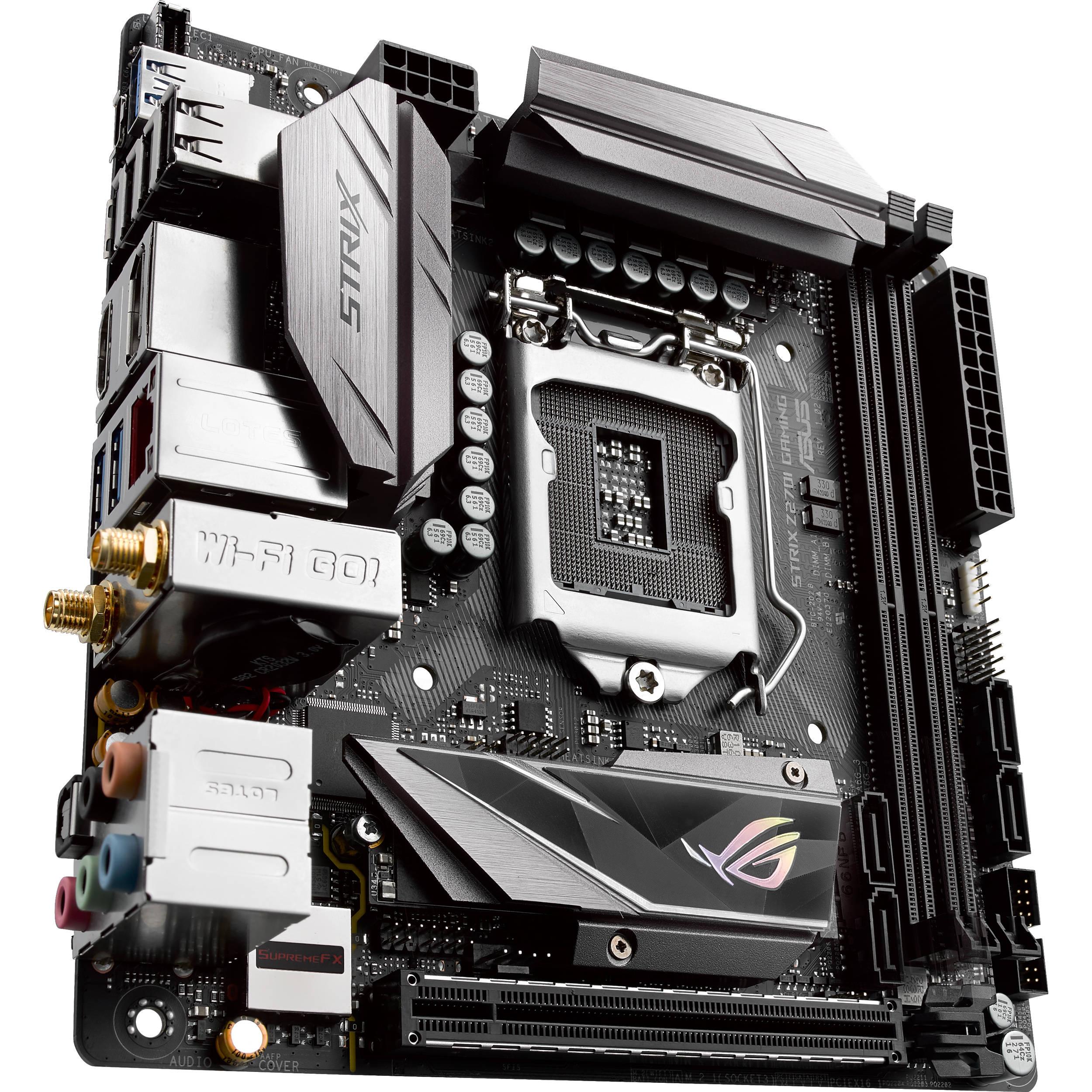 ASUS Republic of Gamers Strix Z270I Gaming LGA 1151 Mini-ITX Motherboard
