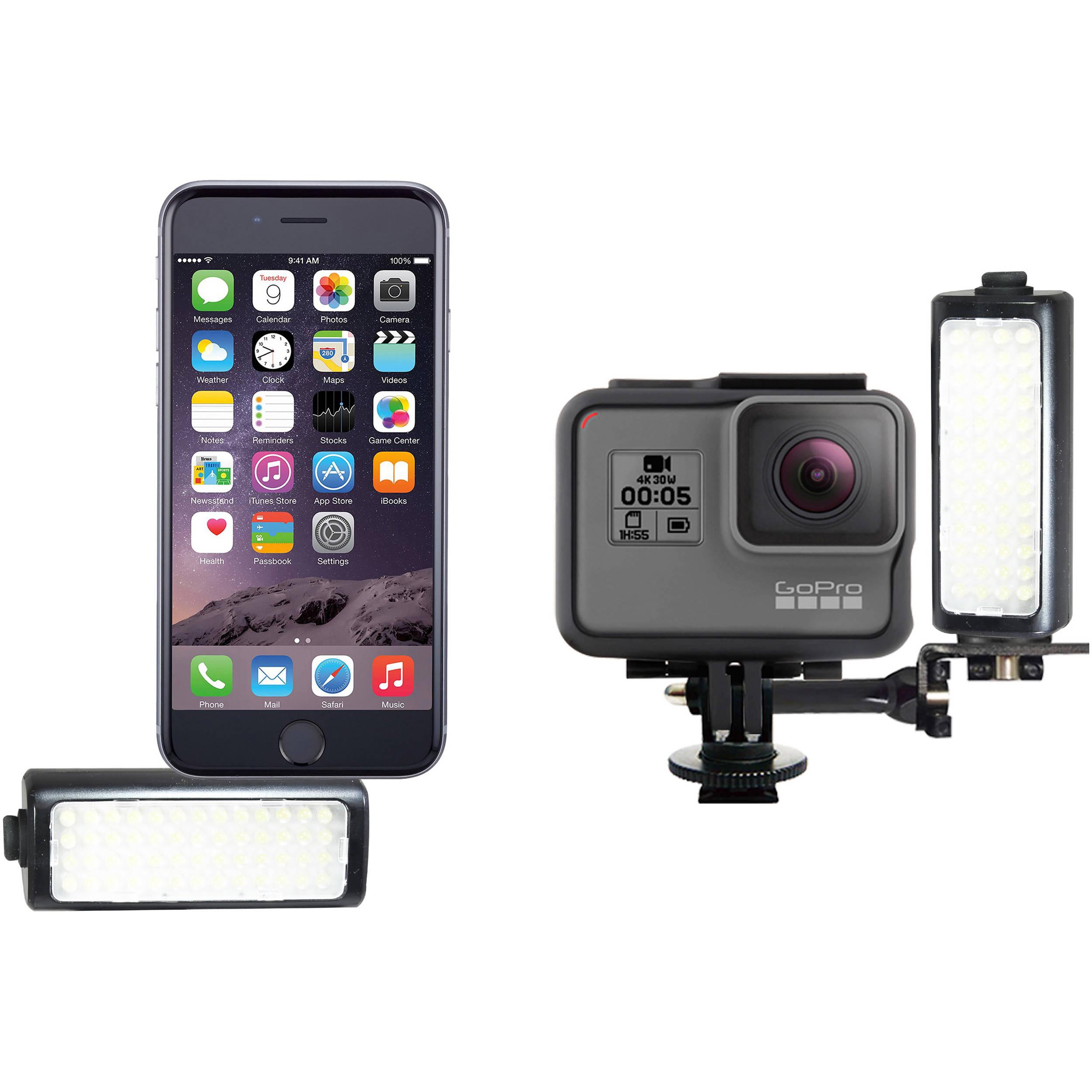 Vidpro LED-M52 LED Video Light for GoPro Action Cameras /& Smartphones