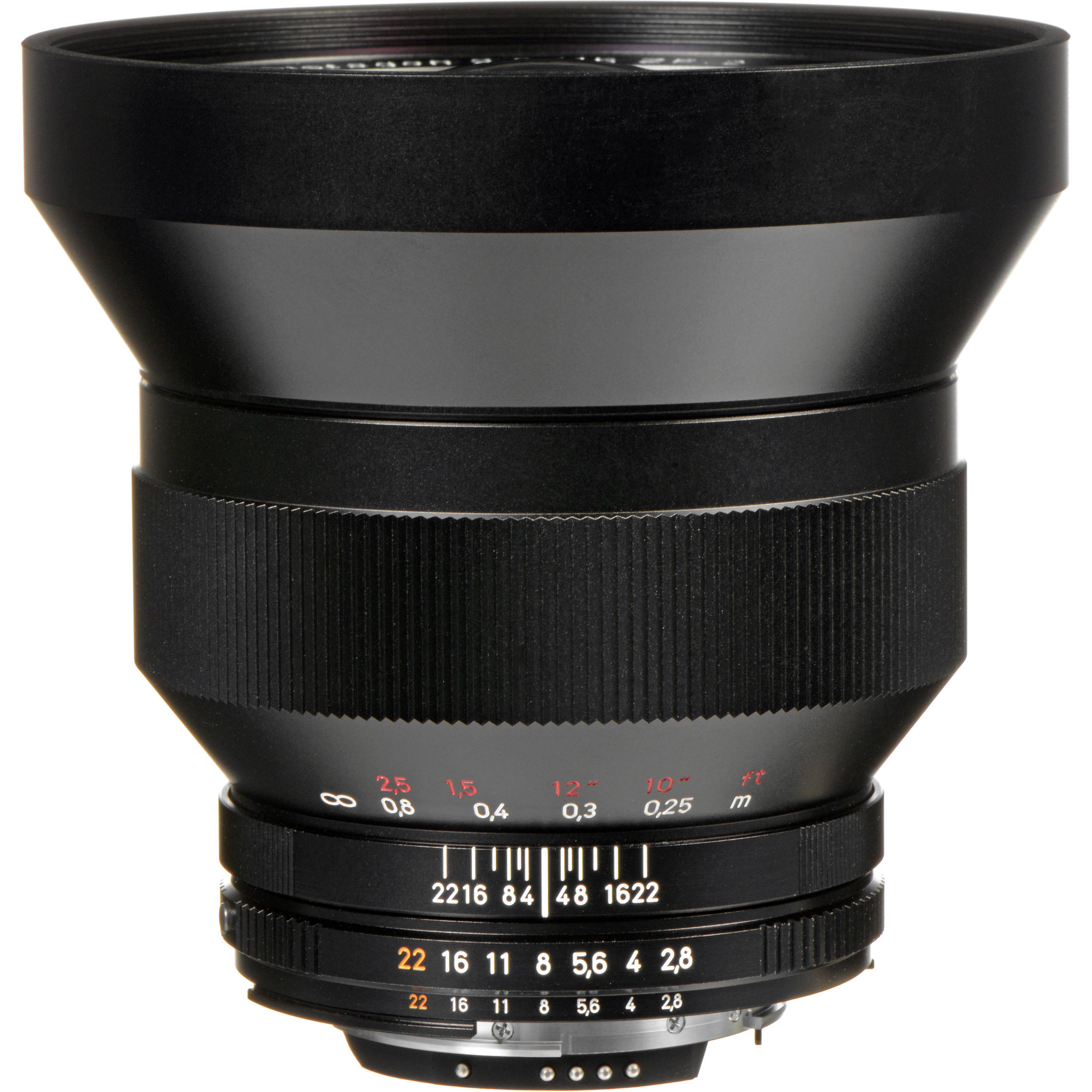 ZEISS Distagon T* 15mm f/2 8 ZF 2 Lens without Built-In Lens Hood for Nikon  F