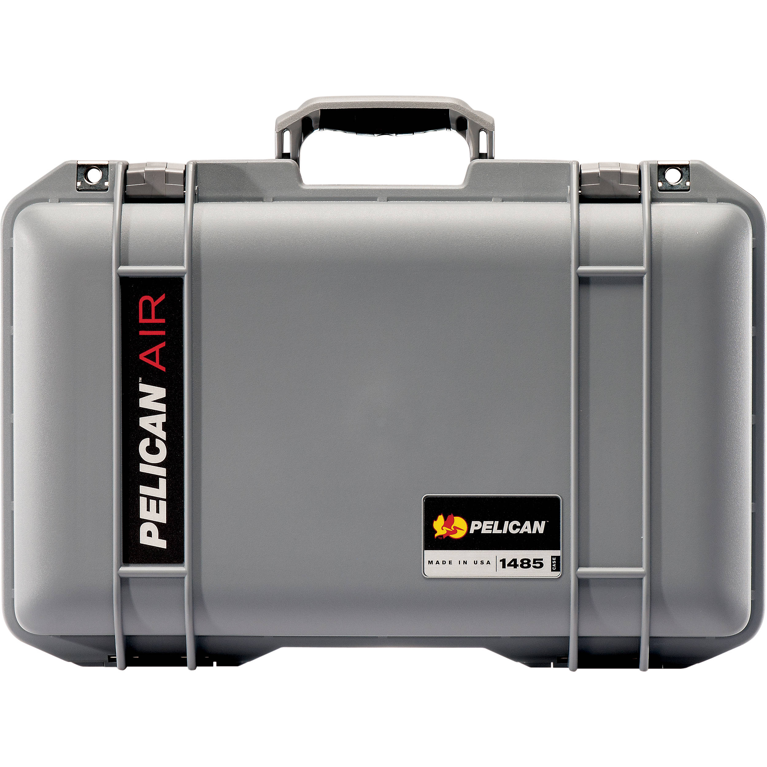 Silver /& Blue Pelican 1485 Air case with Yellow dividers.