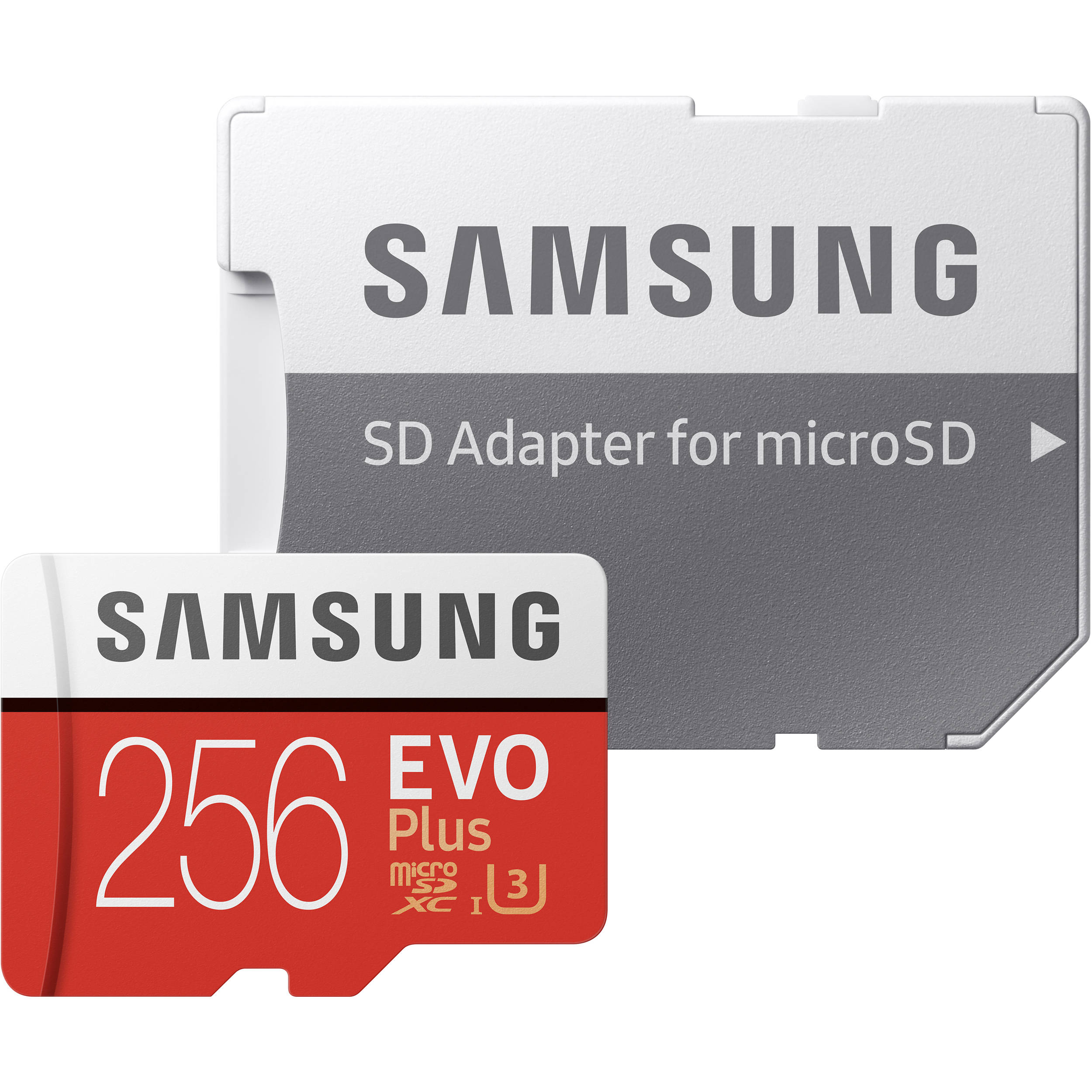Samsung 256GB EVO Plus UHS-I microSDXC Memory Card with SD Adapter