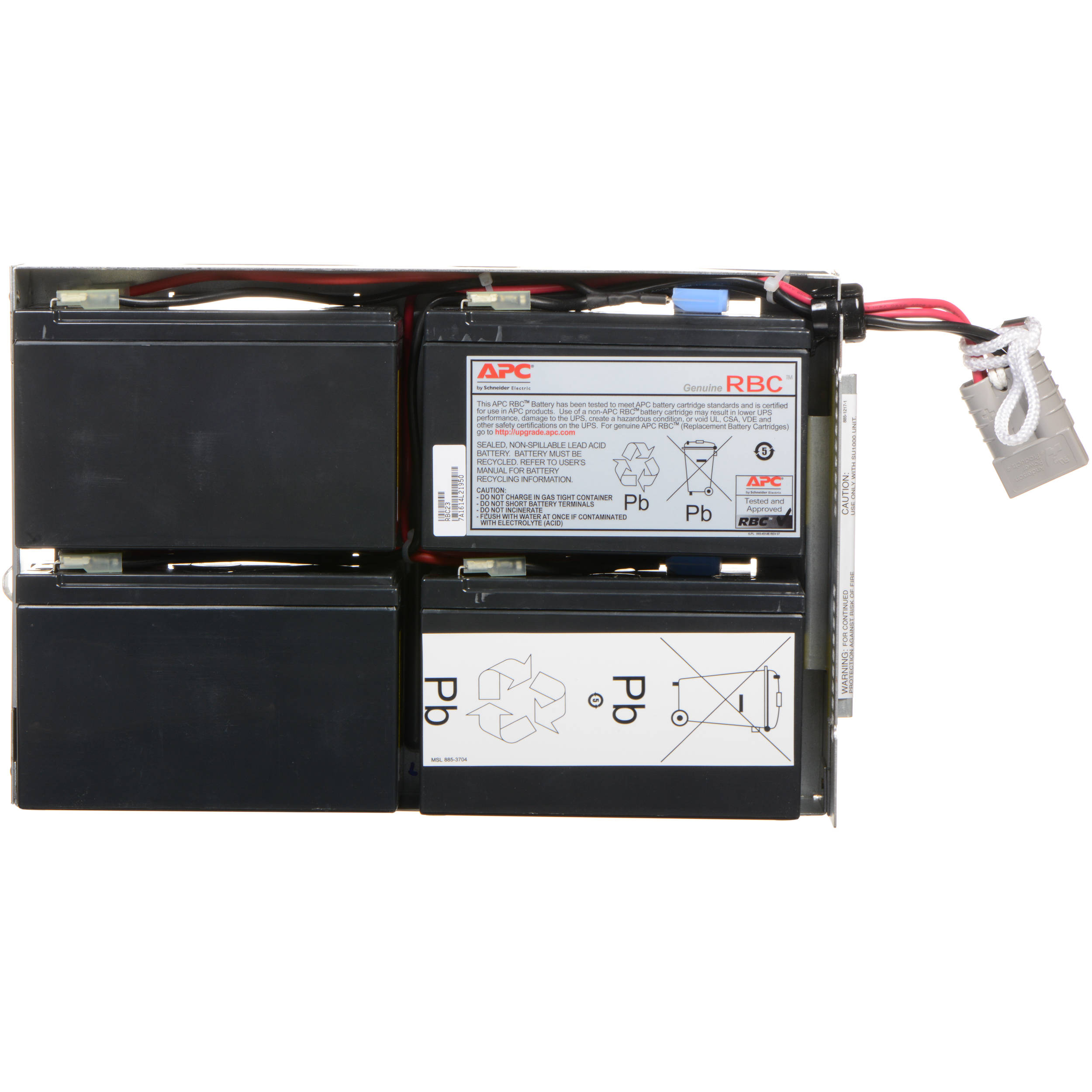 New RBC23 Compatible Replacement Battery Cartridge for Select APC ...