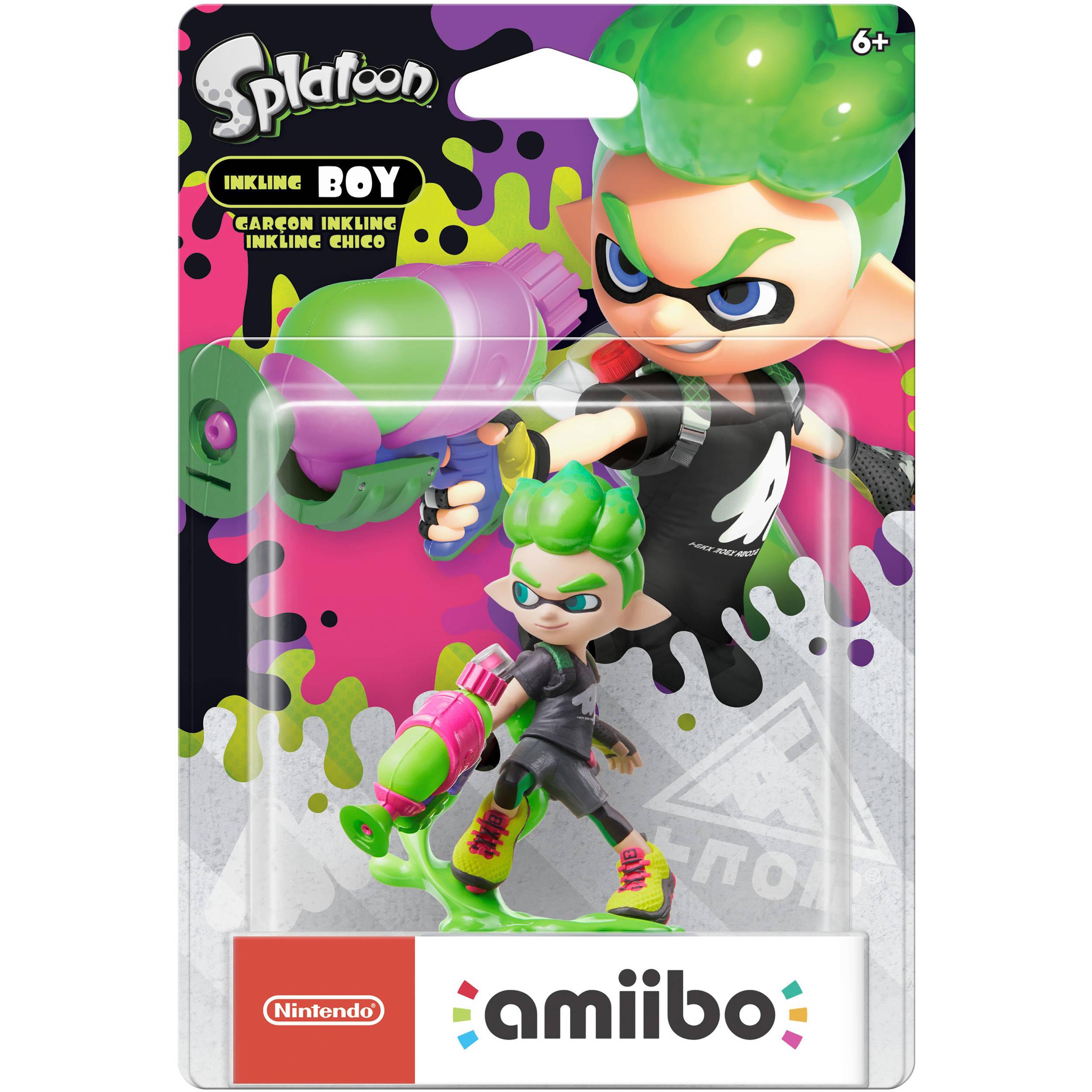 Nintendo Inkling Boy (Neon Green) amiibo Figure (Splatoon Series)