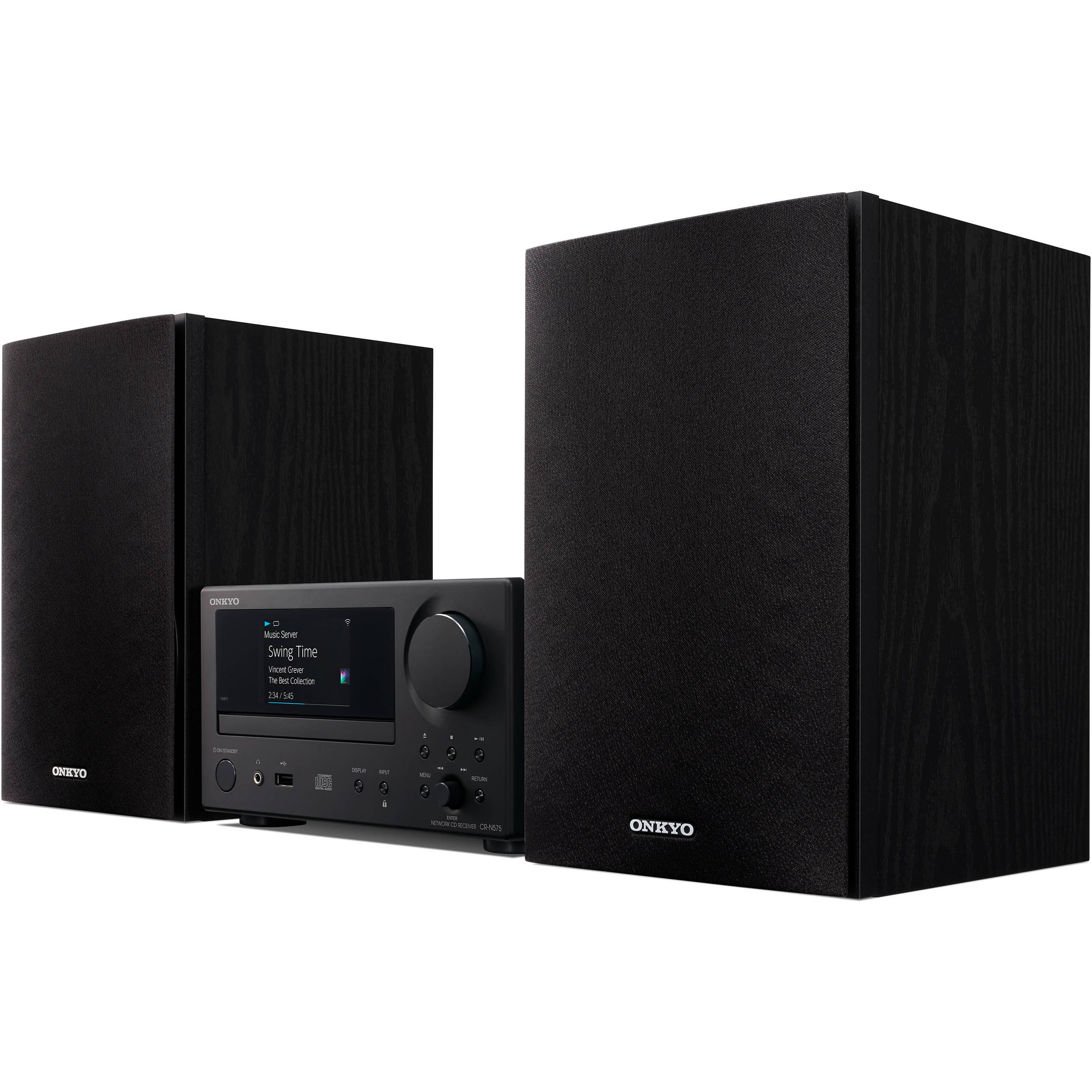 Onkyo Network Hi-Fi CD System Black CS-N575