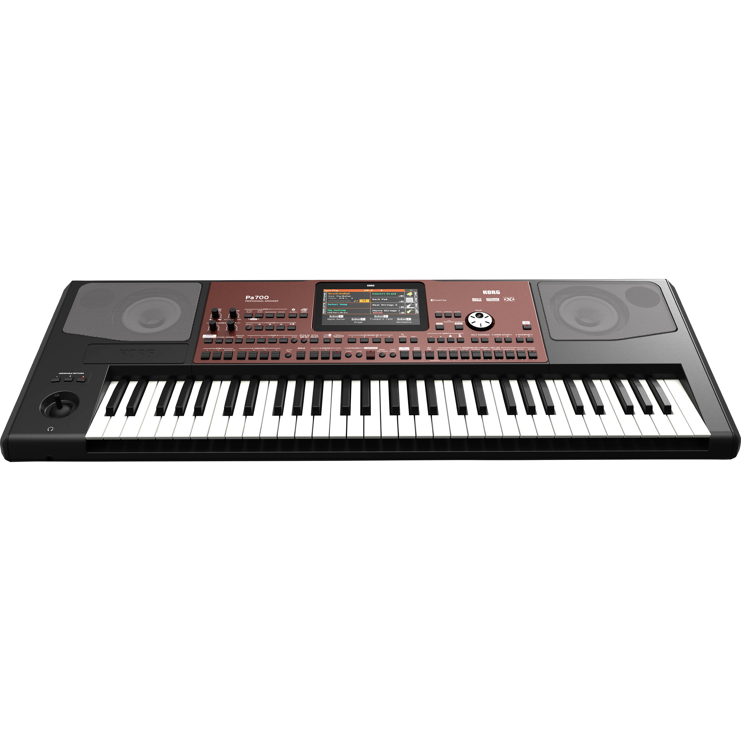 Korg Pa700 61-Key Professional Arranger with Touchscreen and Speakers