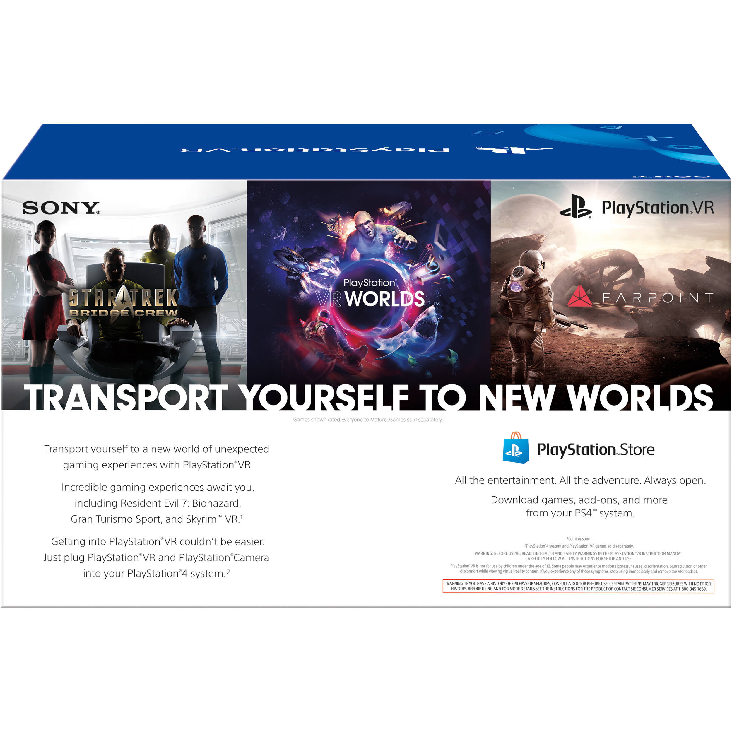 Sony PlayStation VR Headset and Camera Bundle