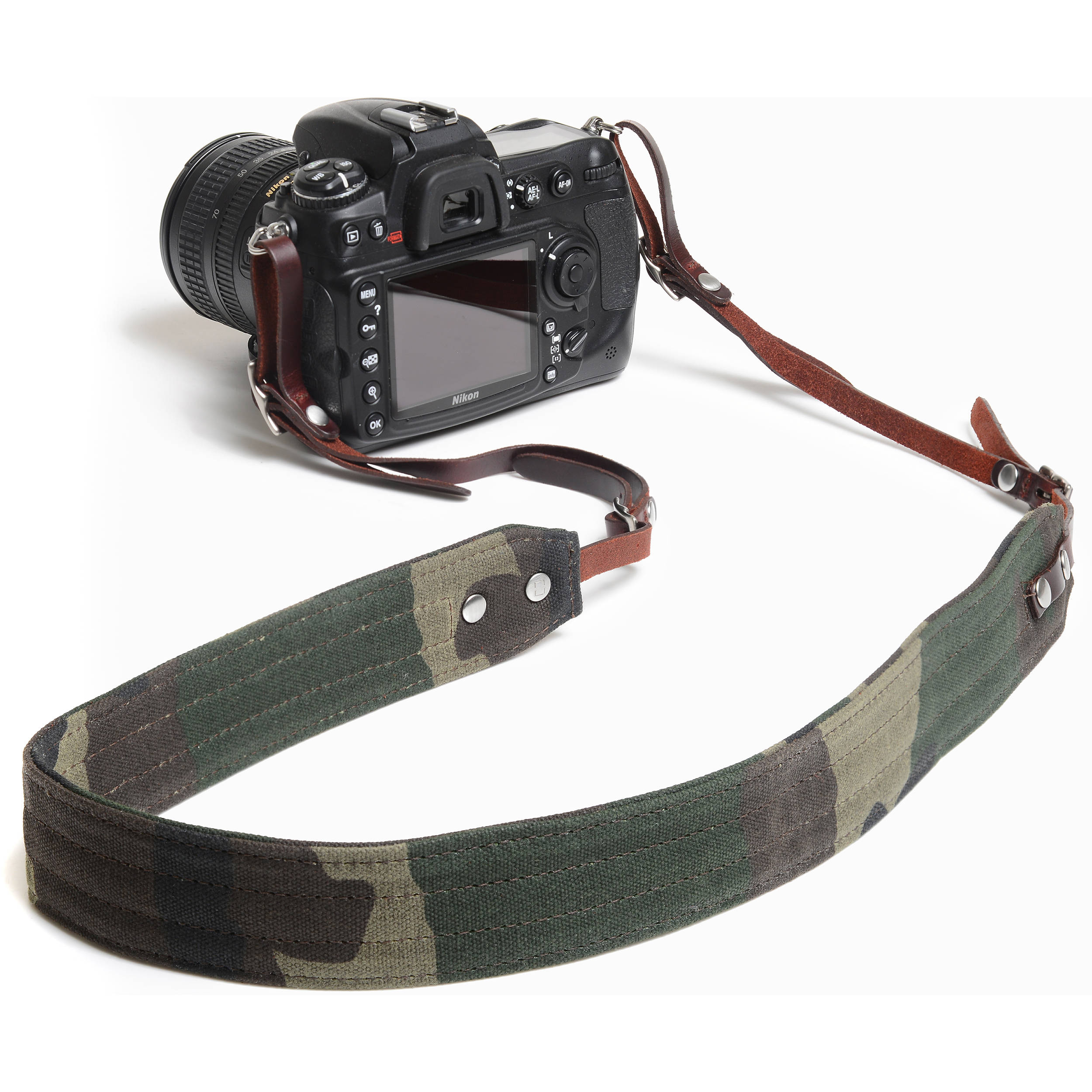 ONA Presidio New Padded Canvas Leather Camera Carrying Neck Strap Black Color