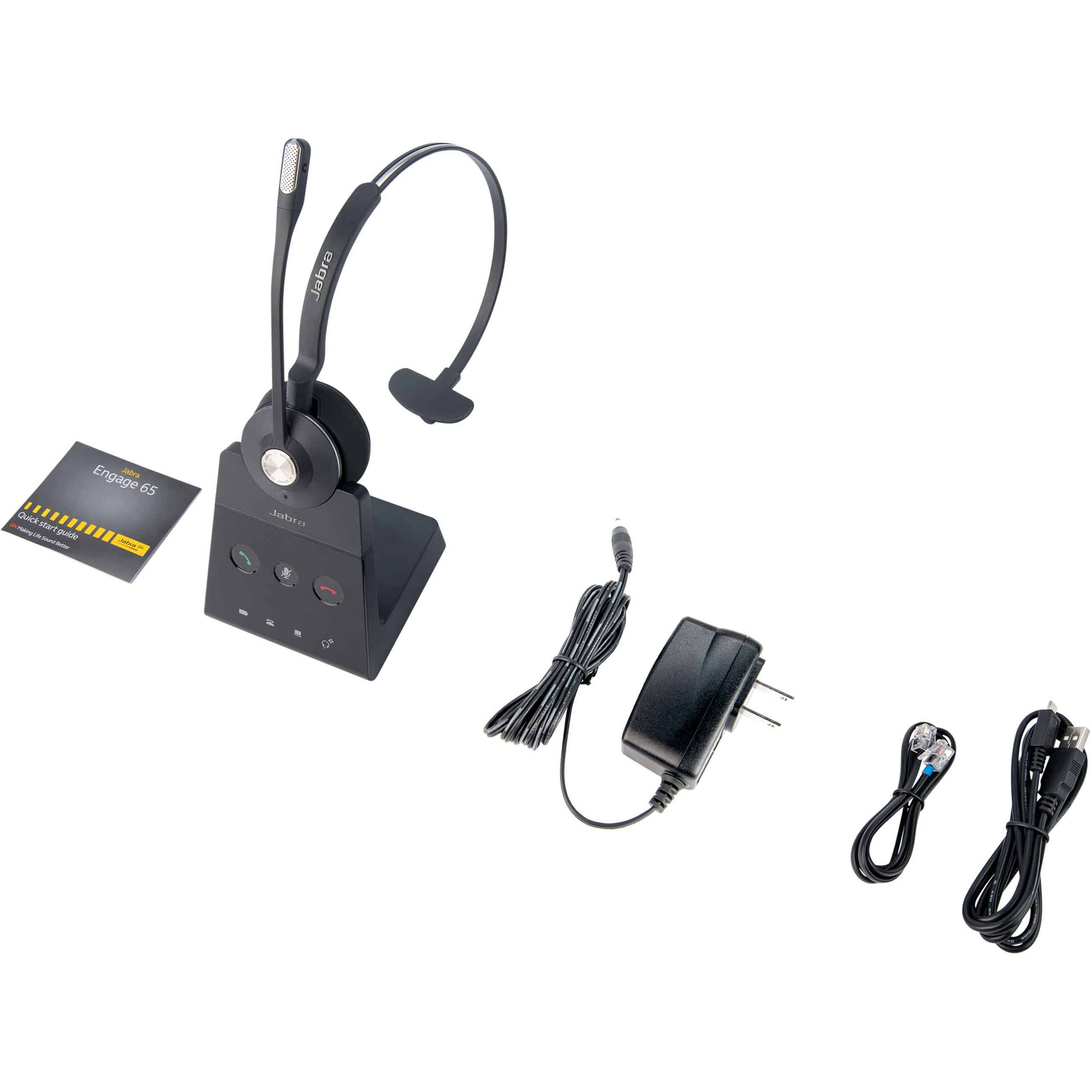 Jabra Engage 65 Mono Wireless Dect On Ear Headset 9553 553 125