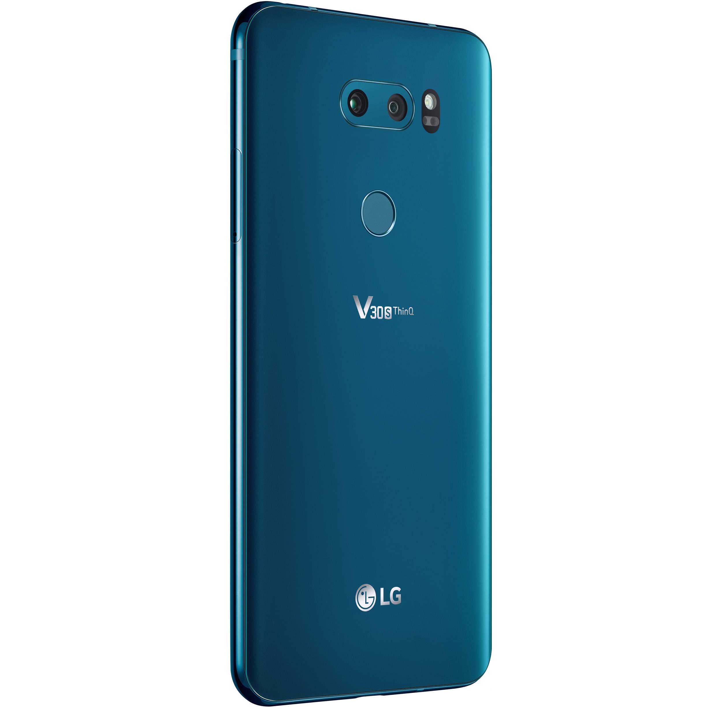 LG V30S ThinQ 128GB Smartphone (Unlocked, Glossy Moroccan Blue)