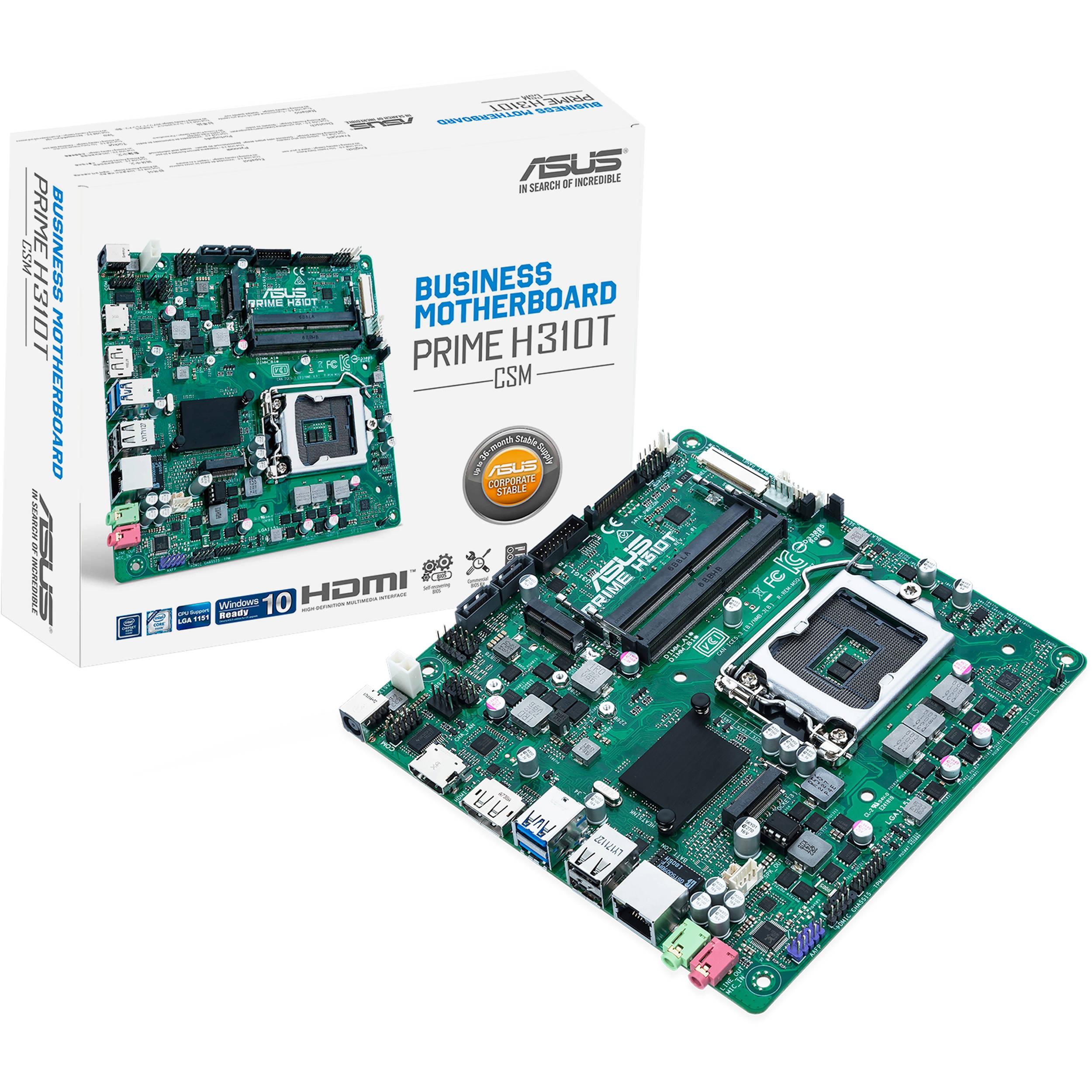 ASUS Prime H310T/CSM LGA 1151 Mini-ITX Motherboard