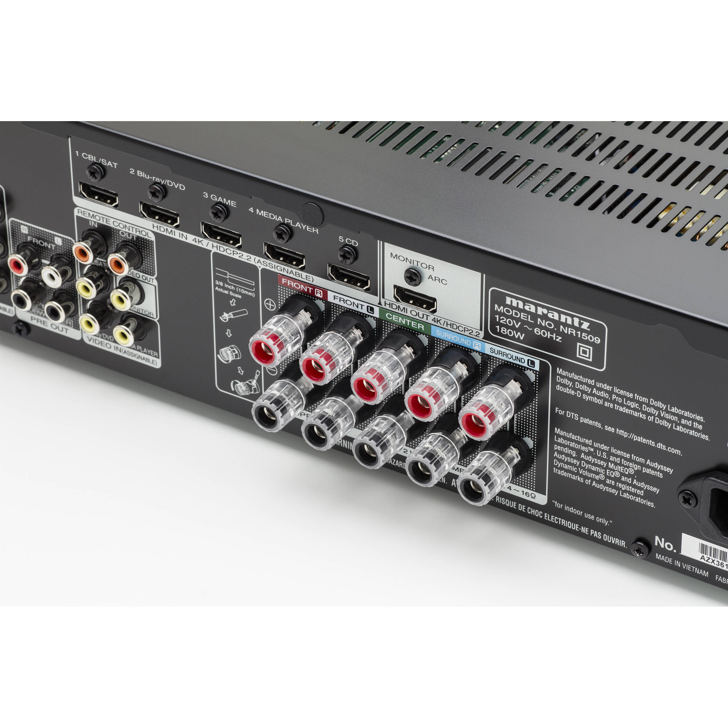 Marantz NR1509 5 2-Channel Network A/V Receiver