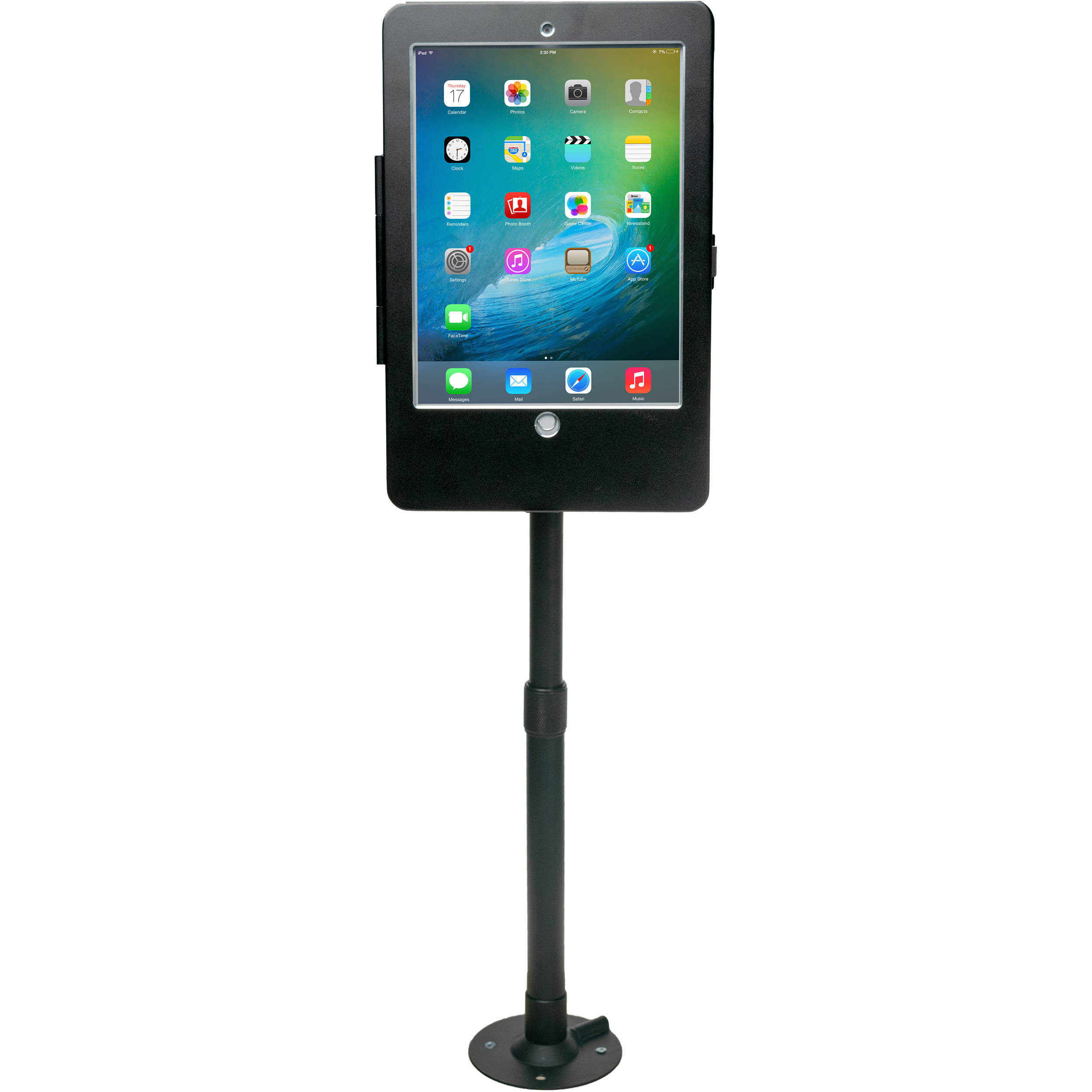 CTA Digital PAD-HAT9E Height-Adjustable Tabletop Security Elbow Mount for  iPad, iPad Air, and iPad Pro 9 7