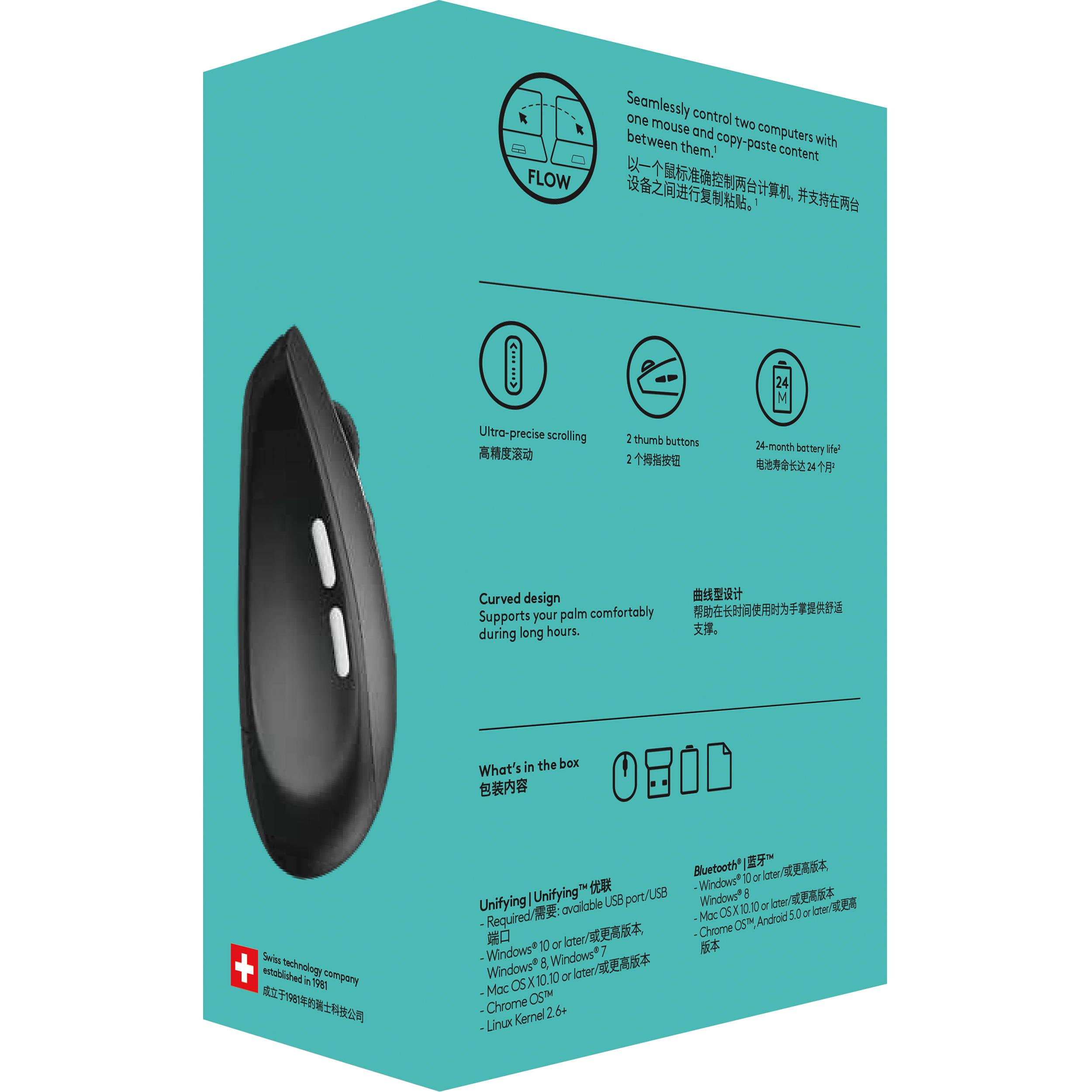 Logitech Multi-Device Wireless Mouse (Graphite)