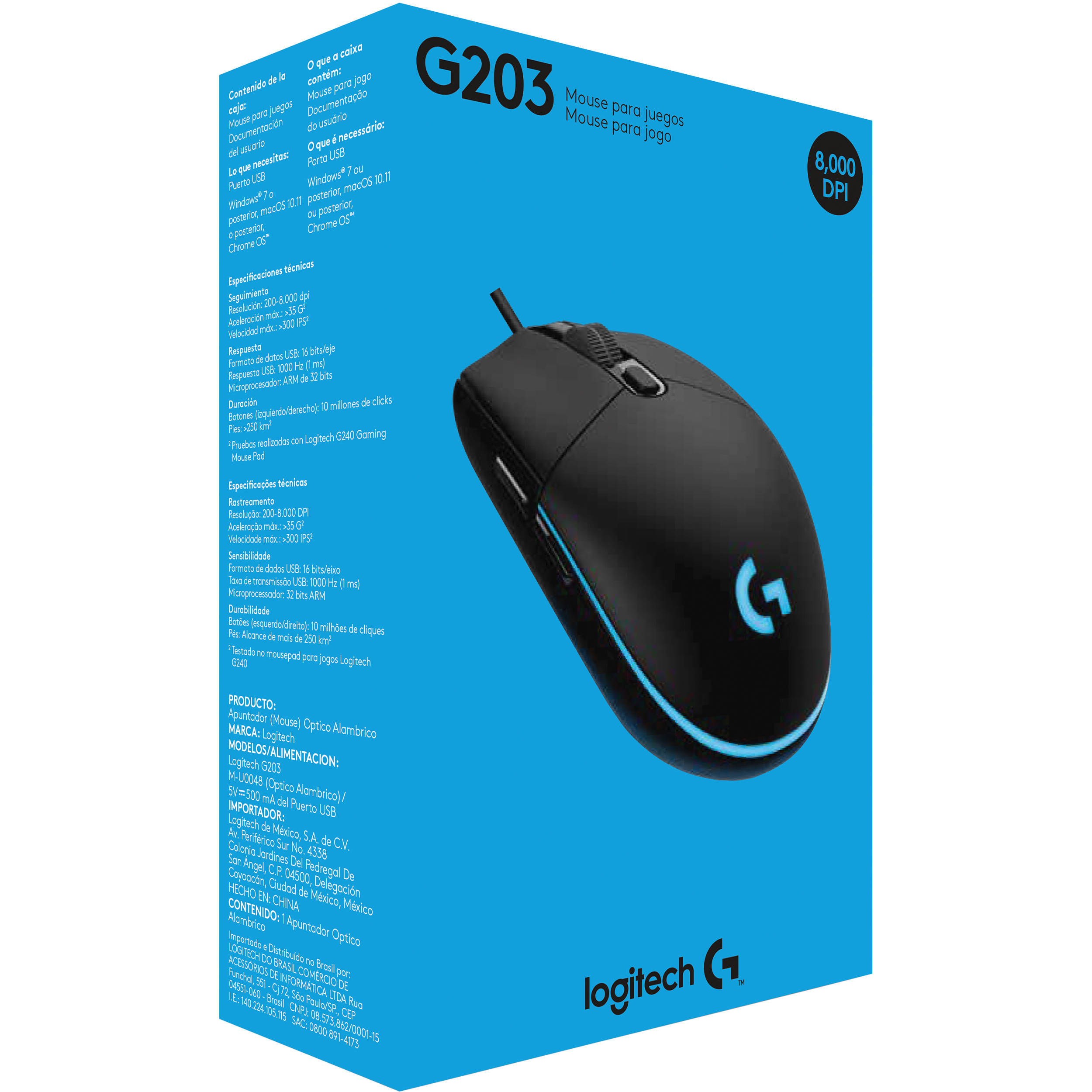 Logitech G203 Prodigy Wired Mouse (Black)