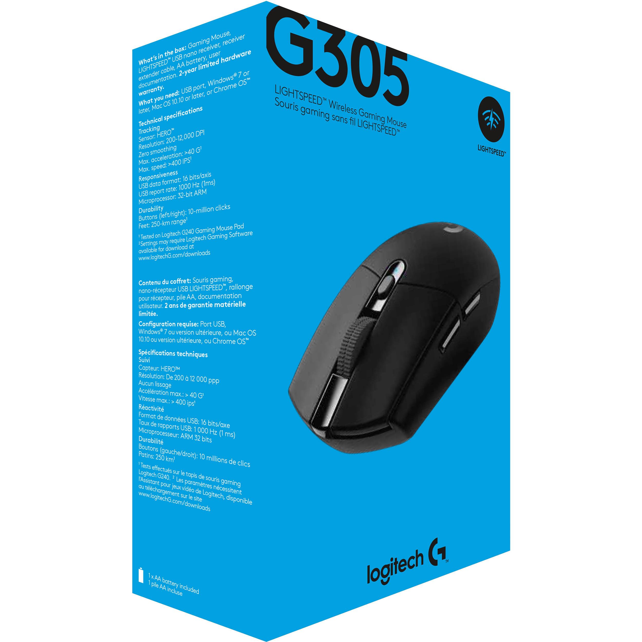 Logitech G305 LIGHTSPEED Wireless Mouse (Black)