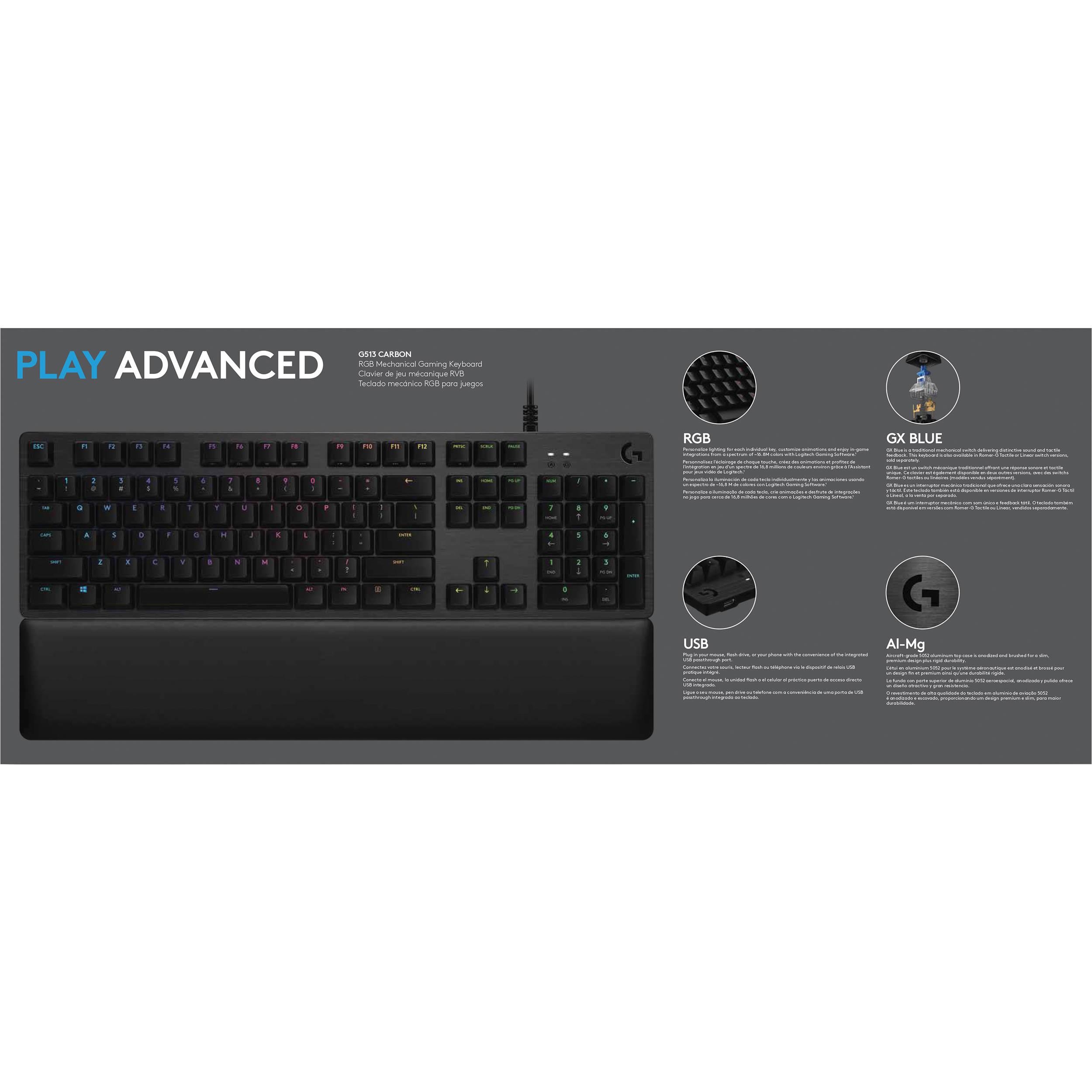 Logitech G513 Backlit Mechanical Gaming Keyboard