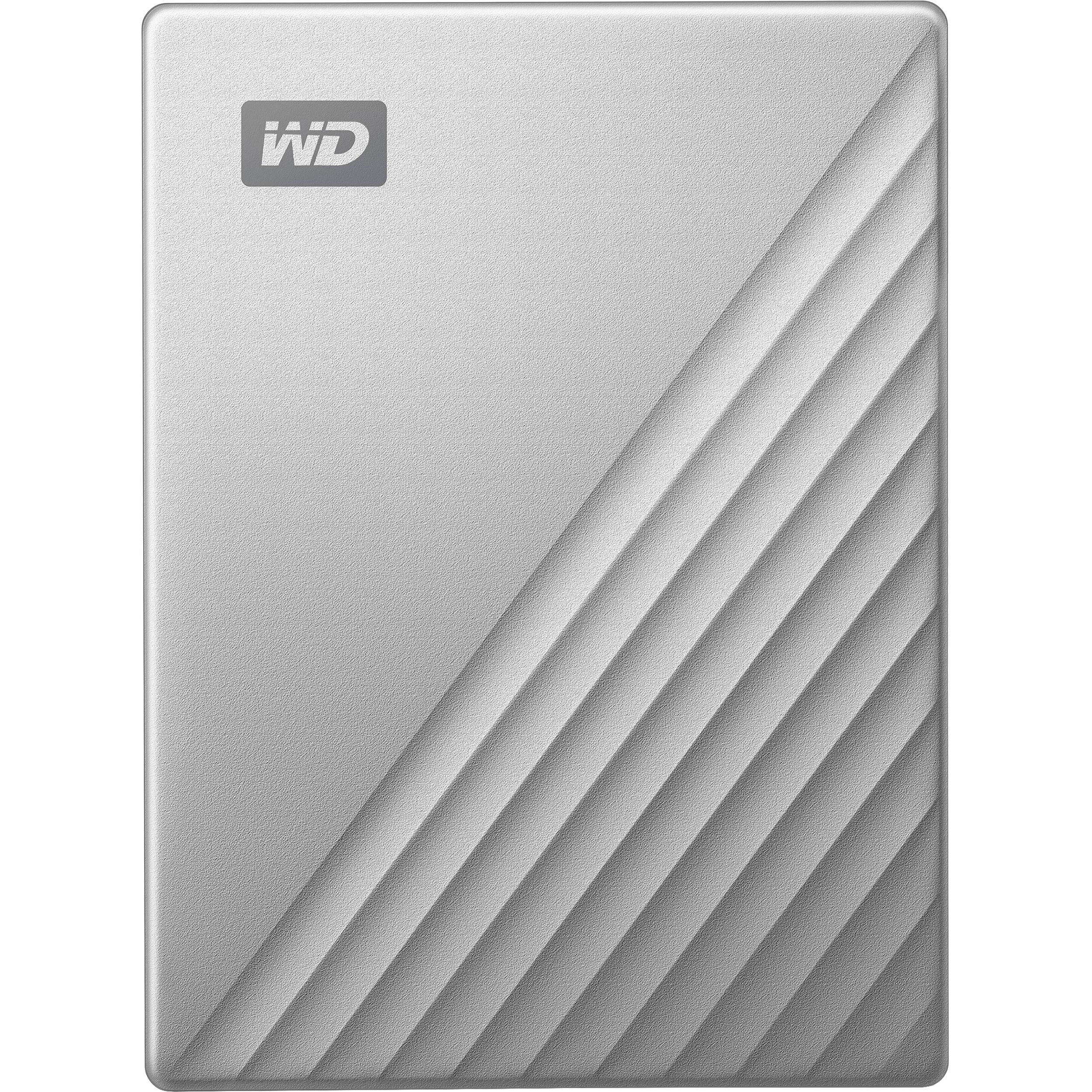 WD 4TB My Passport Ultra USB 3 0 Type-C External Hard Drive (Silver)