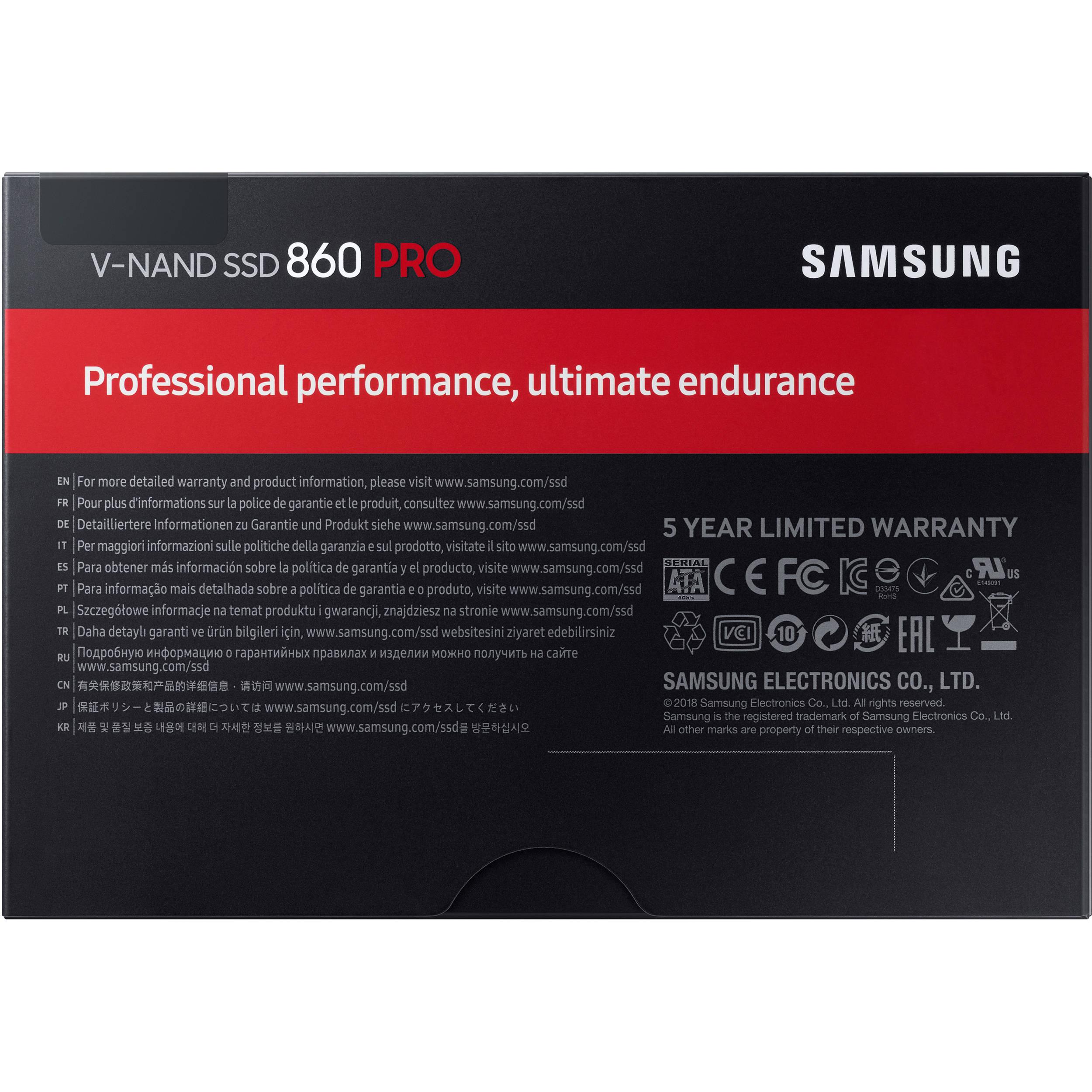 Samsung 512GB 860 PRO SATA III 2 5