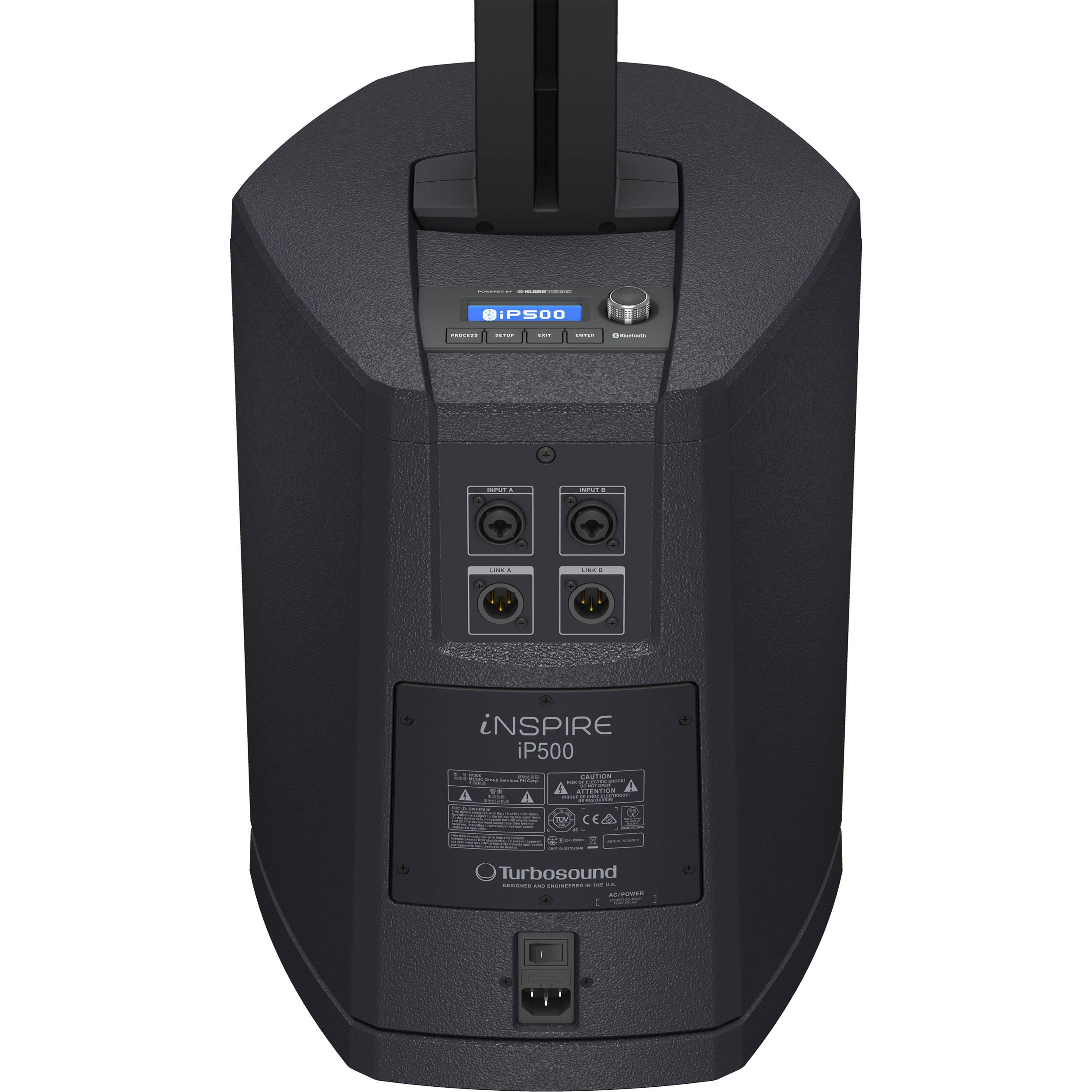 Turbosound iNSPIRE iP500 V2 - Powered Column Loudspeaker with 8