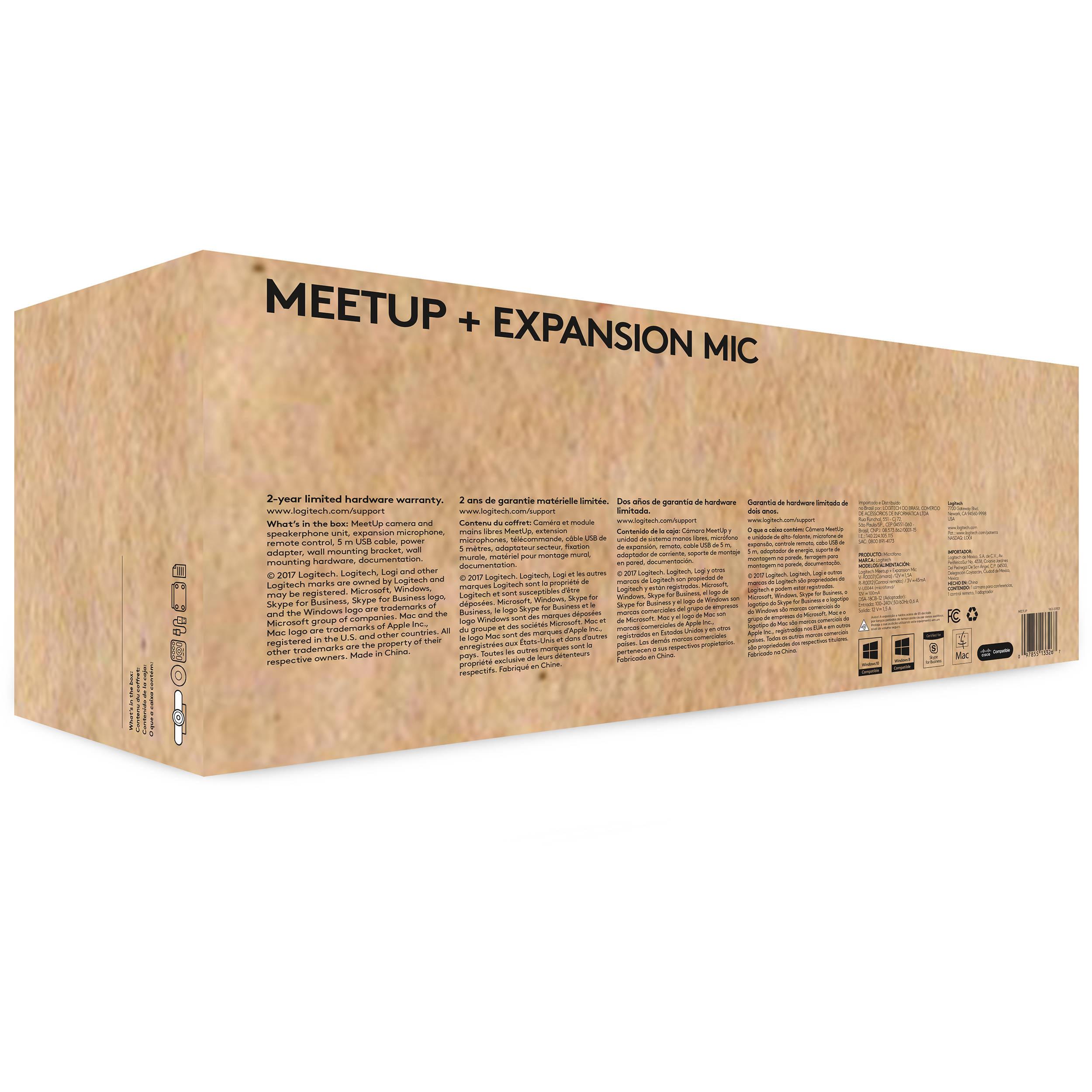 Logitech Meetup 4k Conferencecam Expansion Mic Bundle