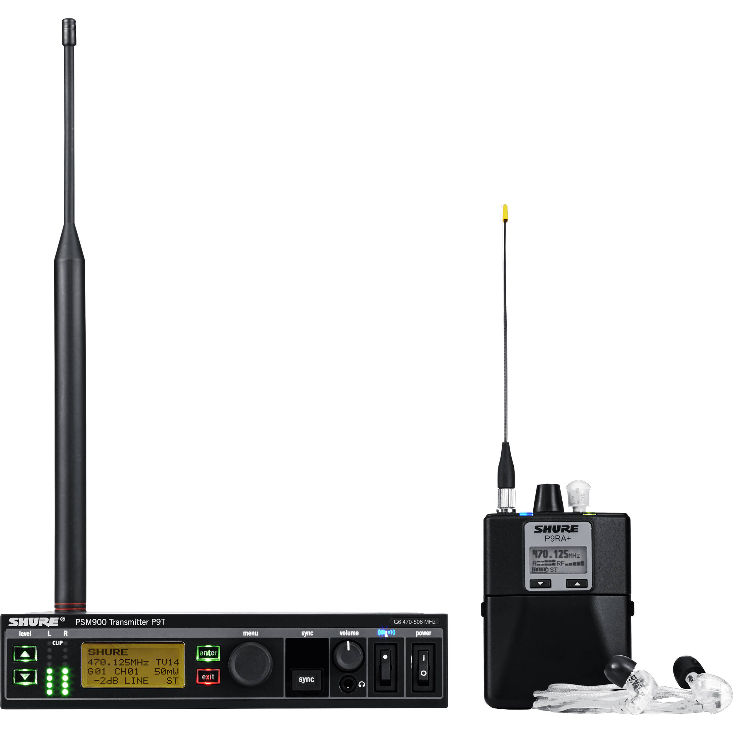 Shure P9TRA+425CL PSM 900 Personal Monitor System G7