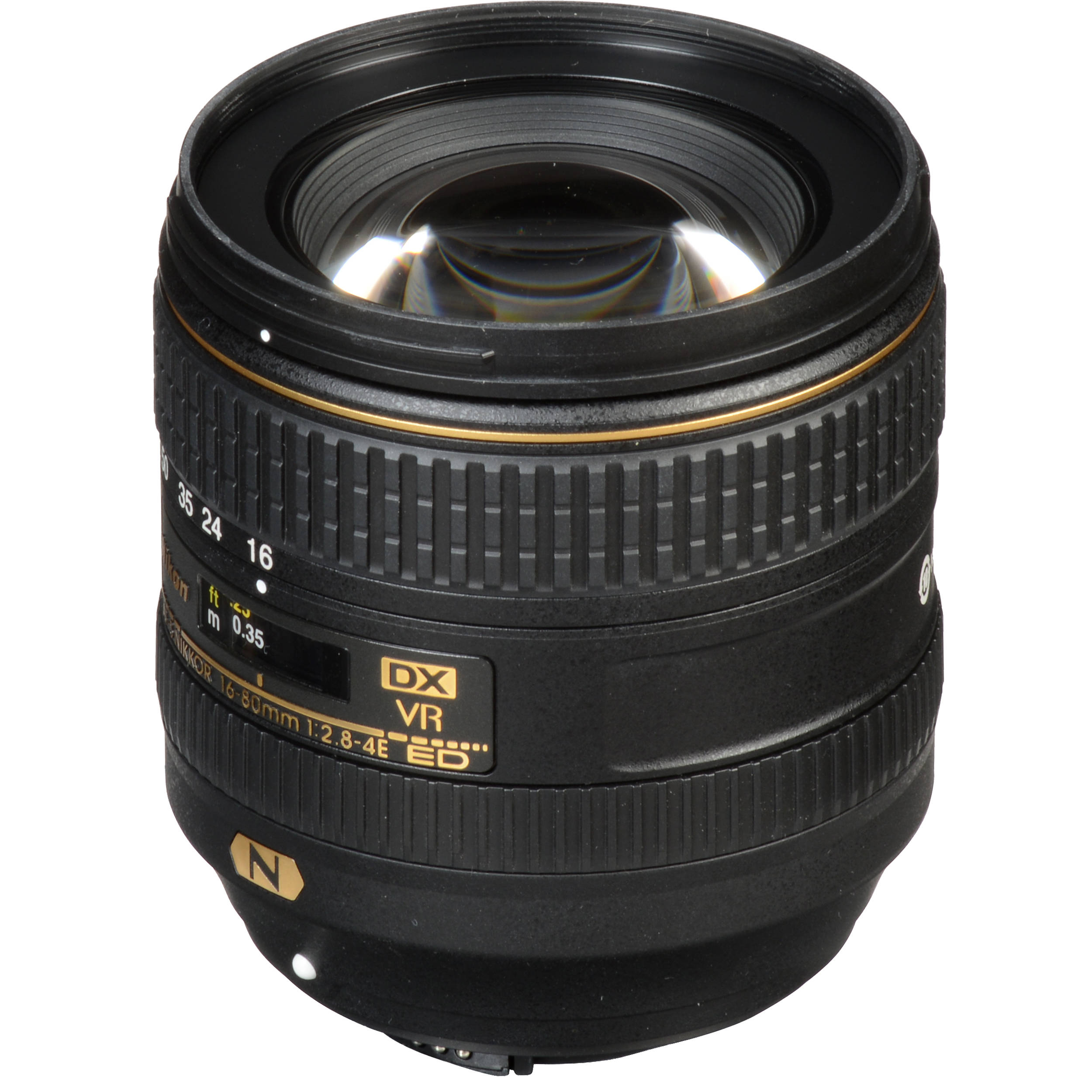 Nikon AF-S DX NIKKOR 16-80mm f//2.8-4E ED Vibration Reduction Zoom Lens with Auto Focus for Nikon DSLR Cameras