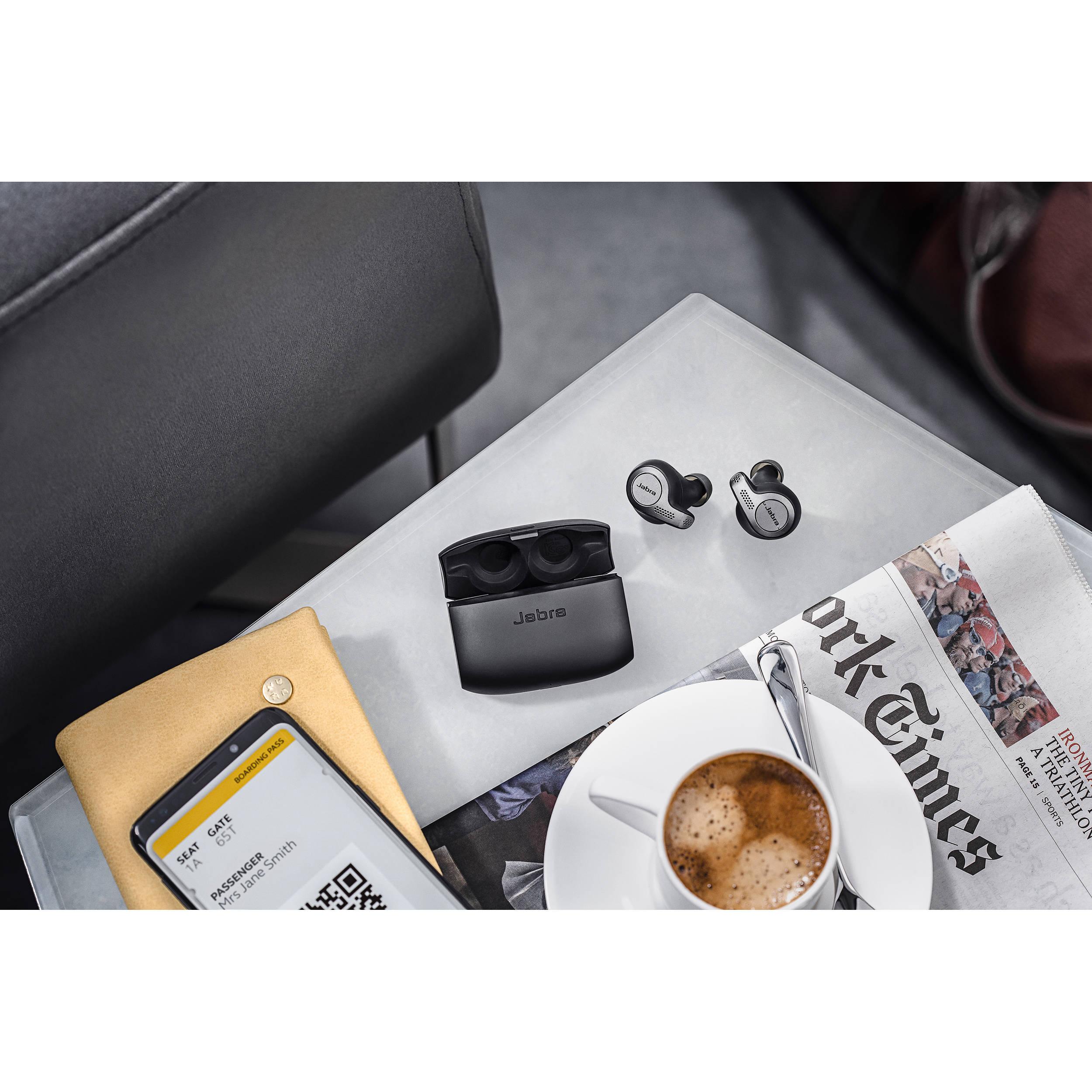 Jabra Evolve 65t Ms Wireless Earbuds Titanium Black