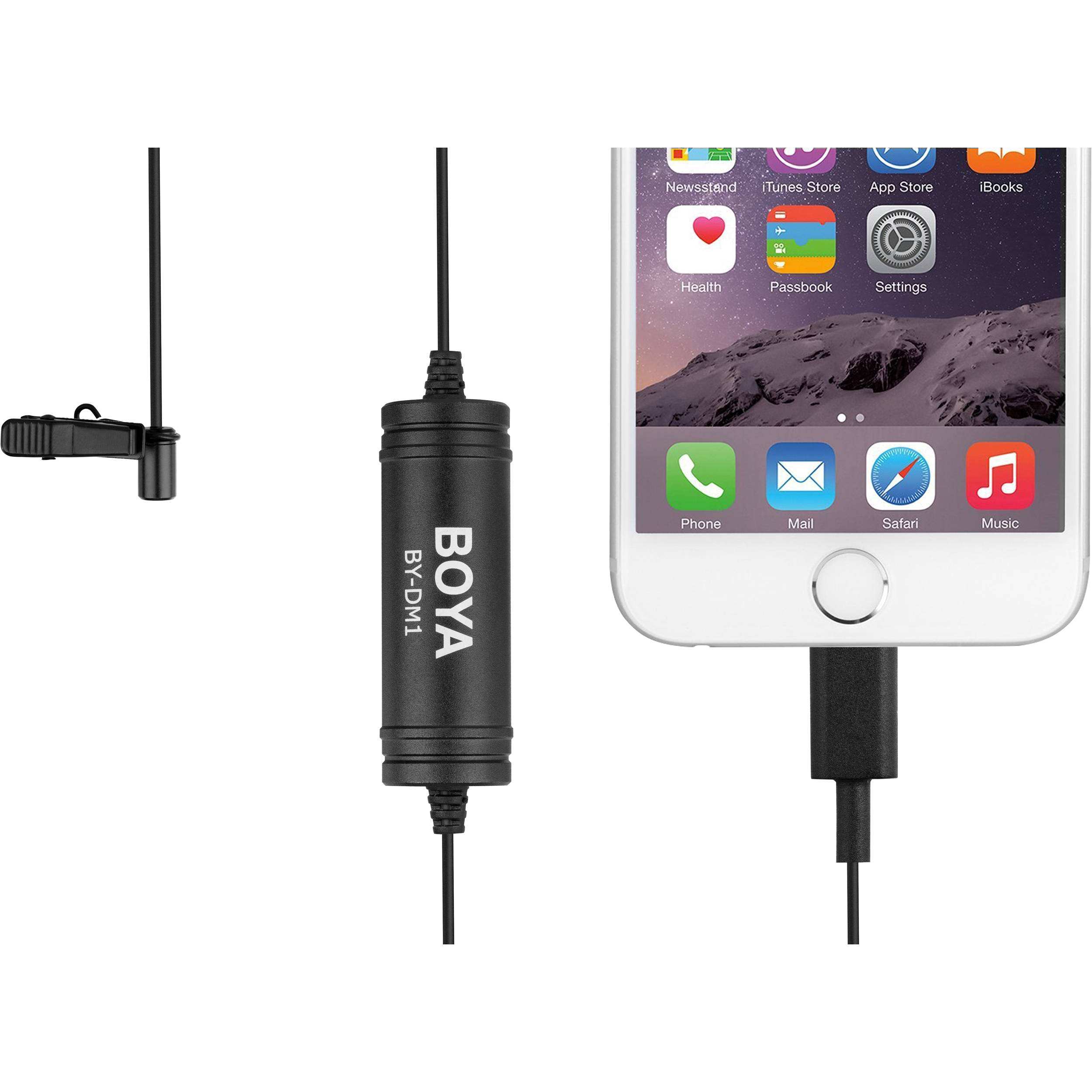 BOYA Lapel Clip-on Mic with iOS MFI Certified Lightning Input for iPhone X 8 7 Plus SE 6 6s iPad Pro Mini iPod Touch for YouTube Video Vblog Podcast Micro Film 19ft //6m iPhone Lavalier Microphone