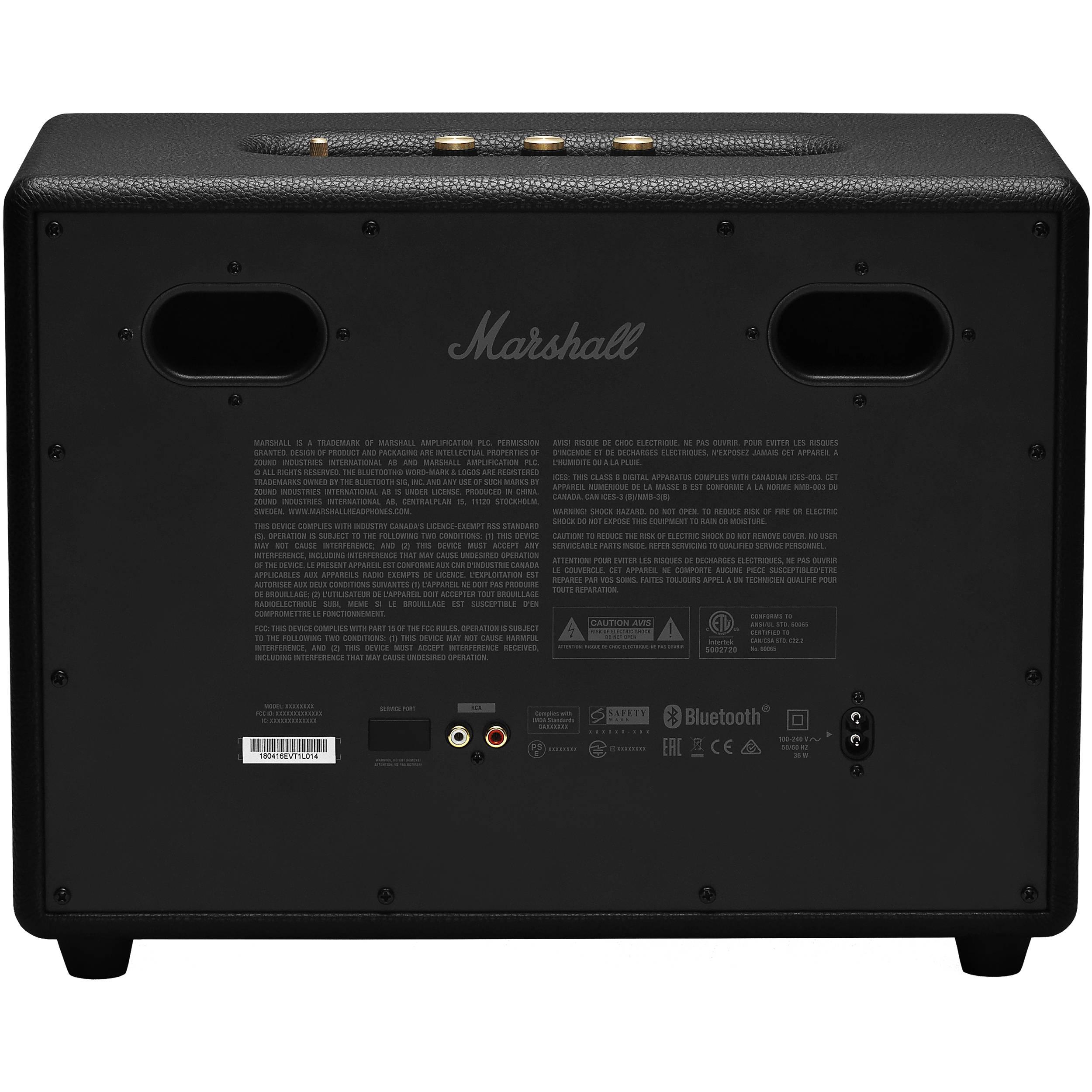 Marshall Woburn II Bluetooth Speaker System (Black)