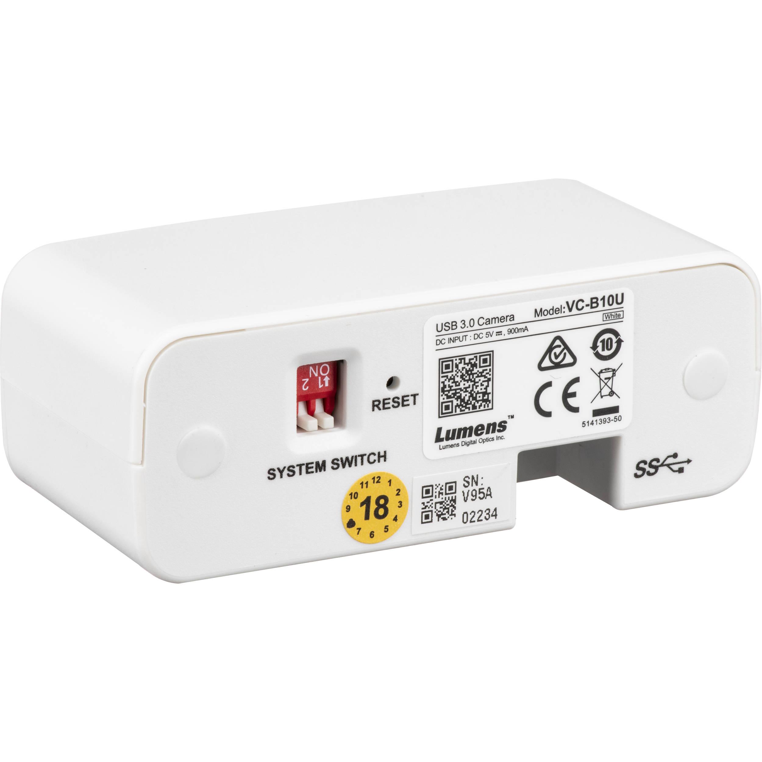 Lumens VC-B10U ePTZ Camera, USB 3 0 (White)