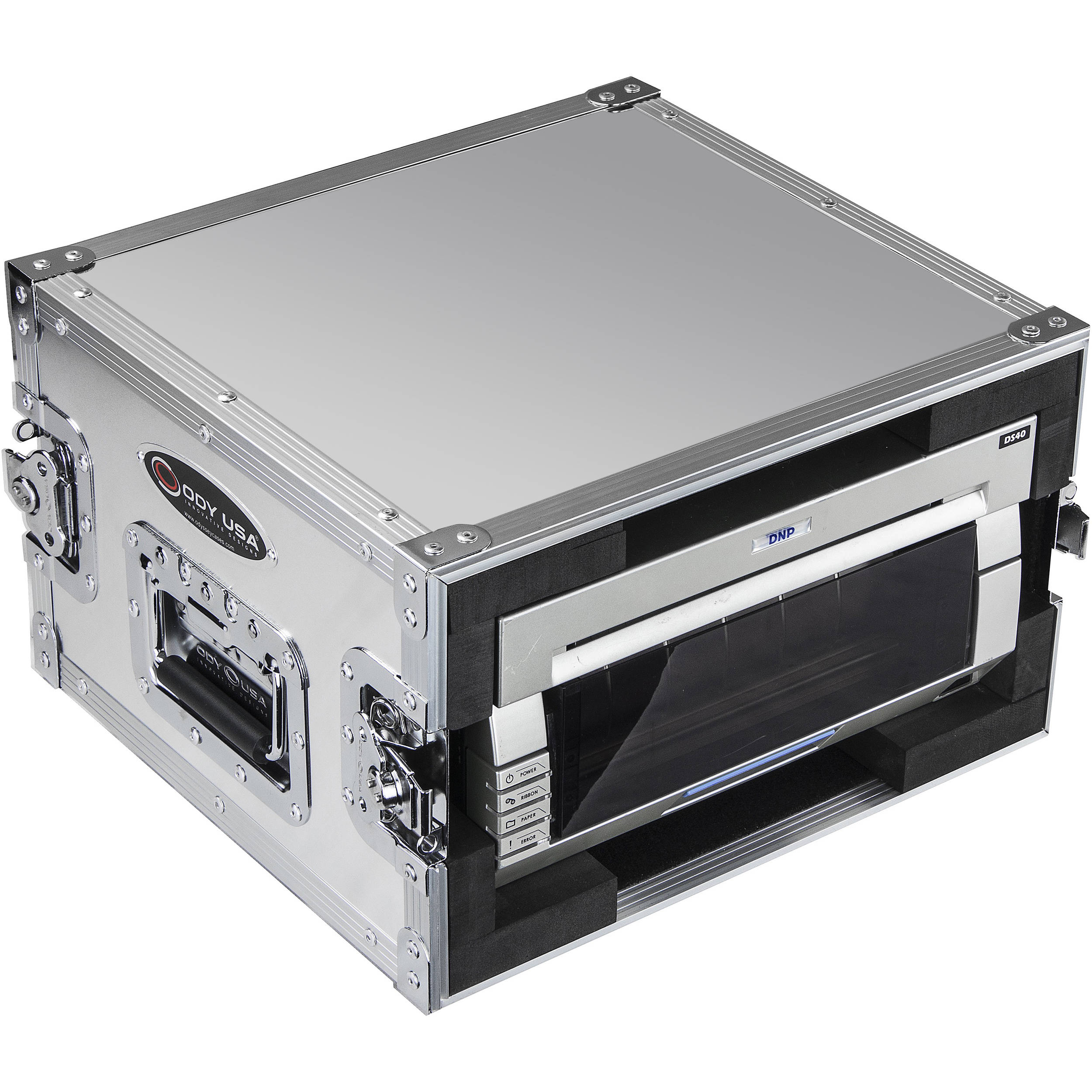 Odyssey Innovative Designs DNP DS40 & DS80 Photo Booth Printer Case  (Natural Aluminum)