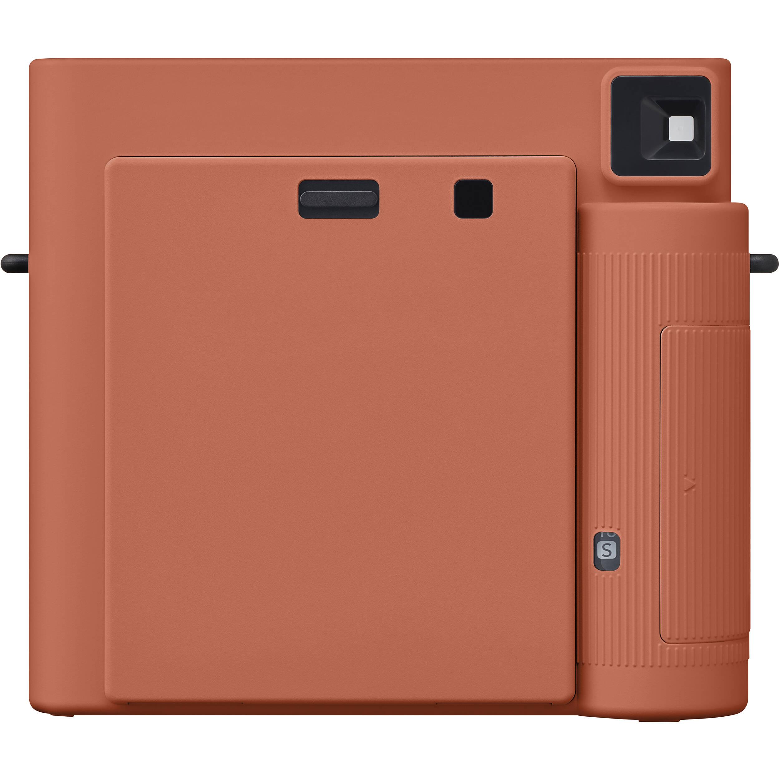White 10 Exposures Fujifilm Instax Square SQ1 Instant Film Camera Terracotta Orange Bundle with Instax Square Film
