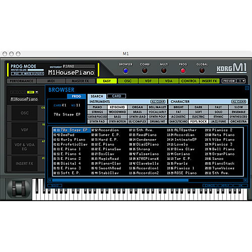 Korg Legacy Collection DIGITAL EDITION - Virtual Software Reproductions of  the M1 and WAVESTATION, Stand-Alone or Plug-In and the MDE-X Multi-Effect