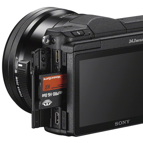 Sony Alpha a5100 Mirrorless Digital Camera with 16-50mm Lens (Black)