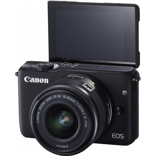 Canon EOS M10 Mirrorless Digital Camera with 15-45mm Lens (Black)